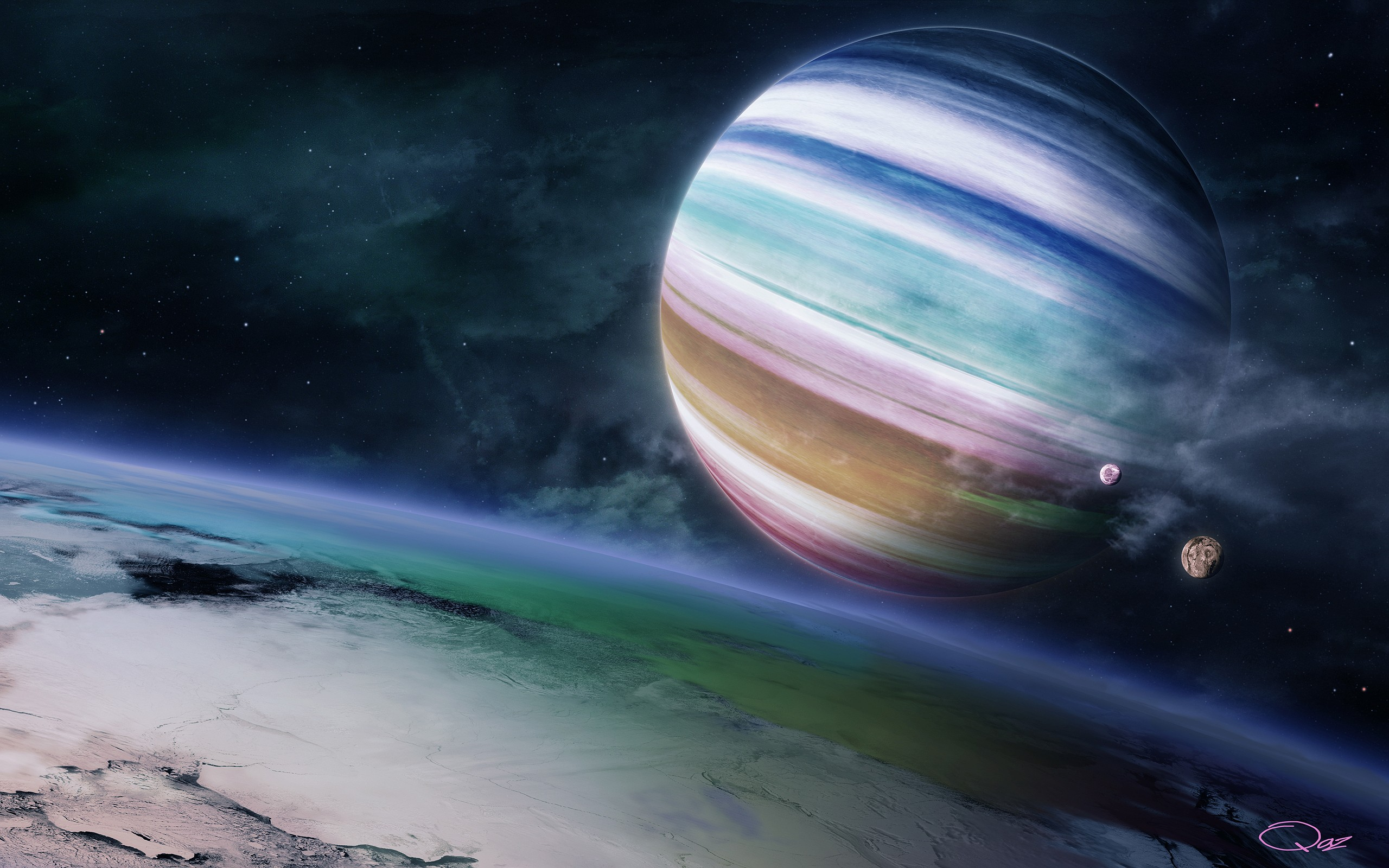 General 2560x1600 planet space digital art QAuZ space art