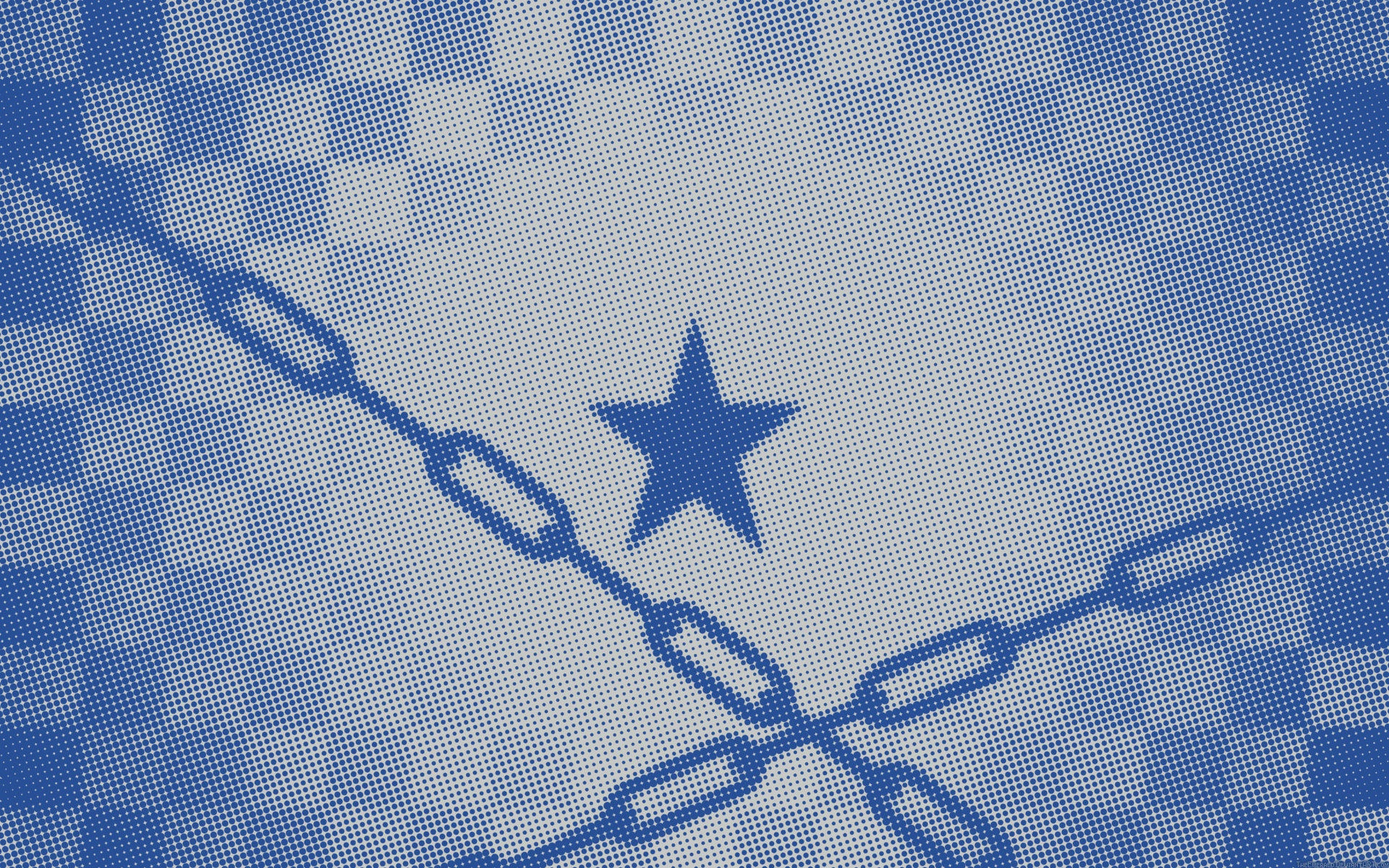 Anime 1920x1200 Black Rock Shooter blue white chains halftone pattern
