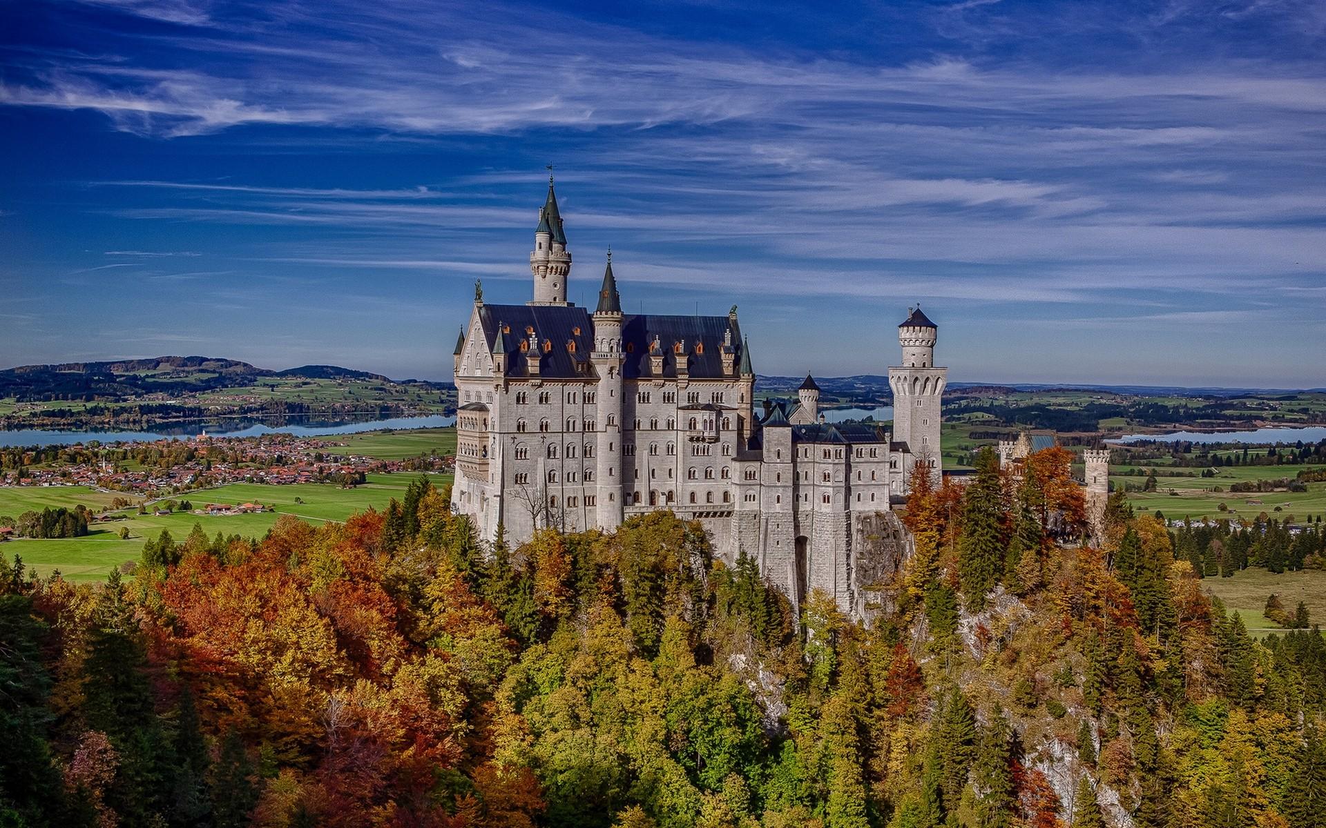 General 1920x1200 Schloss Neuschwanstein castle landscape fall village