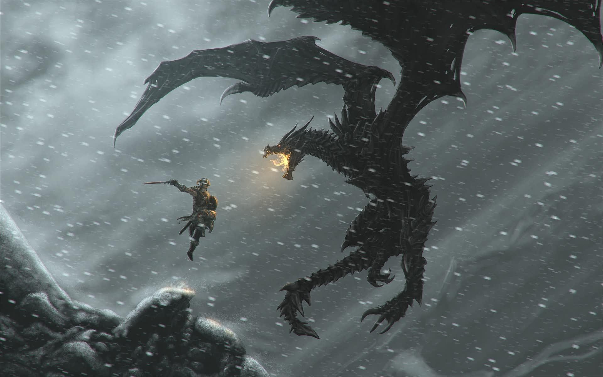 General 1920x1200 The Elder Scrolls V: Skyrim video games Alduin The Elder Scrolls V: Skyrim dragon dovahkiin dragonborn