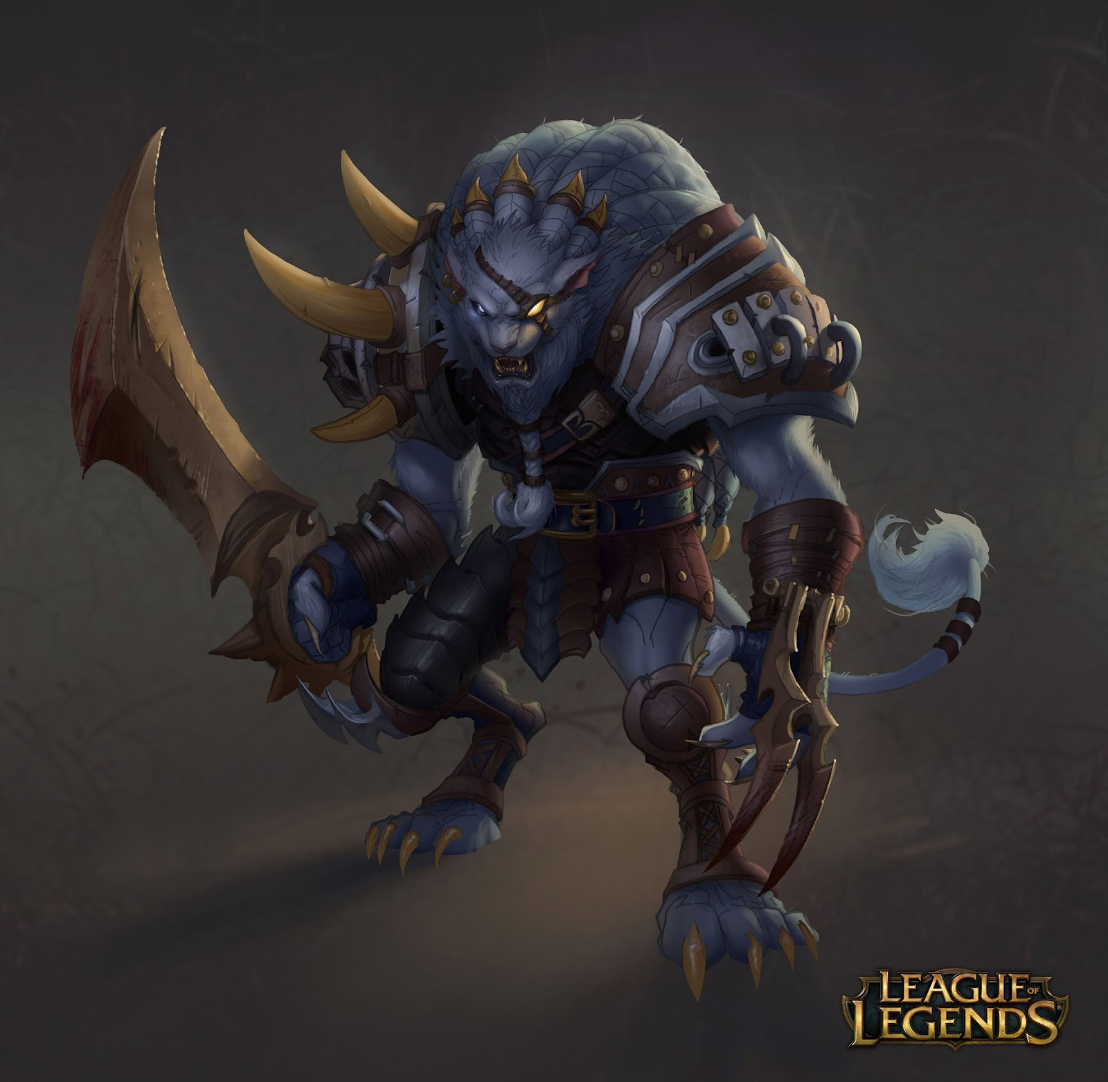 General 1600x1562 Rengar League of Legends video games fantasy art