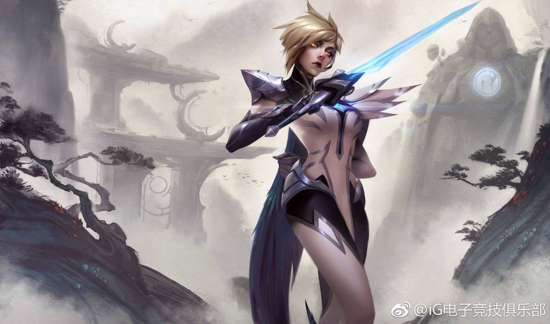 General 1832x1080 League of Legends Fiora (League of Legends) fantasy girl PC gaming