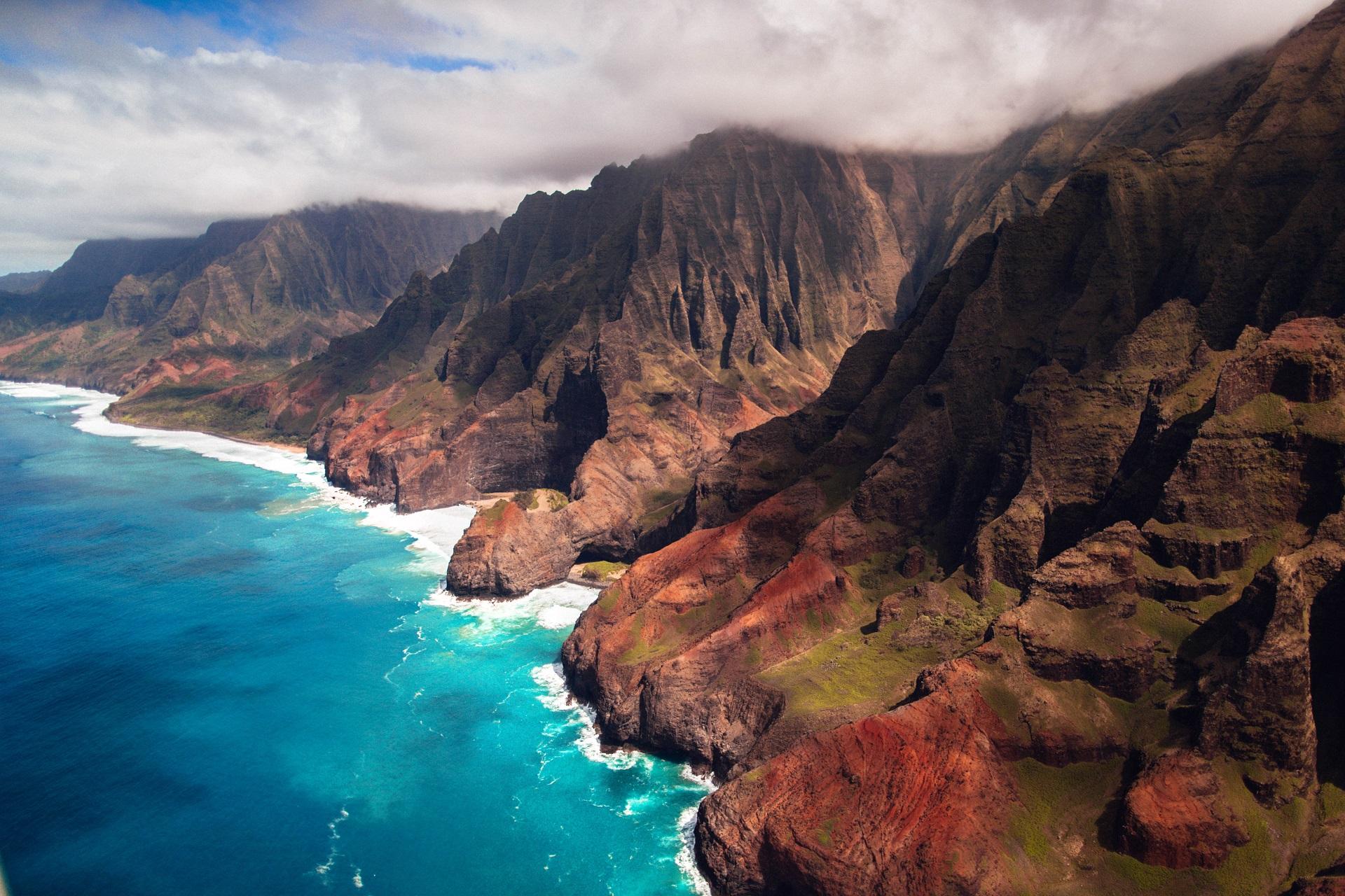 General 1920x1280 nature landscape sea shore hills Na Pali Coast Hawaii coast