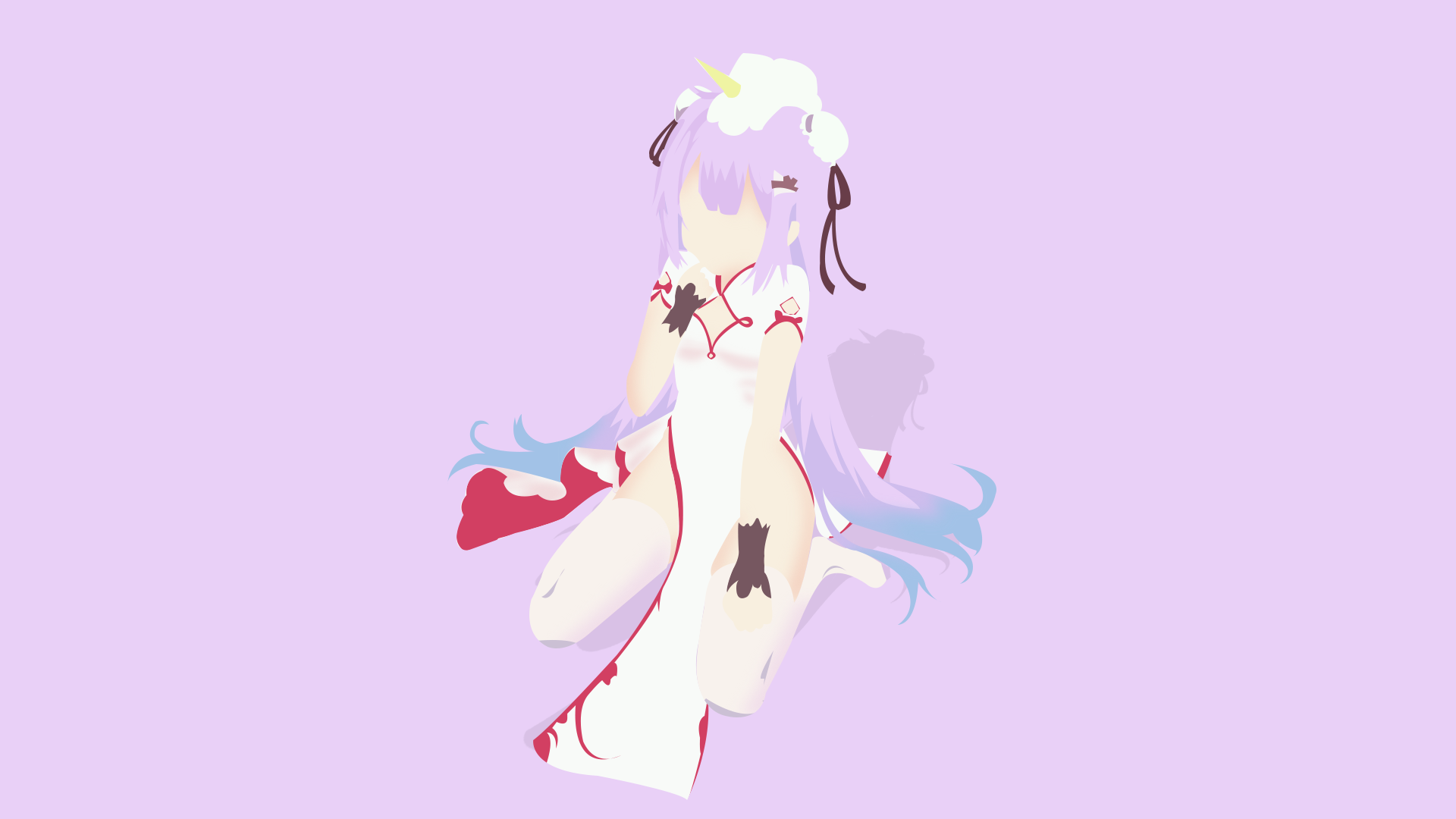 Anime 1920x1080 unicorn anime anime girls purple hair minimalism vector