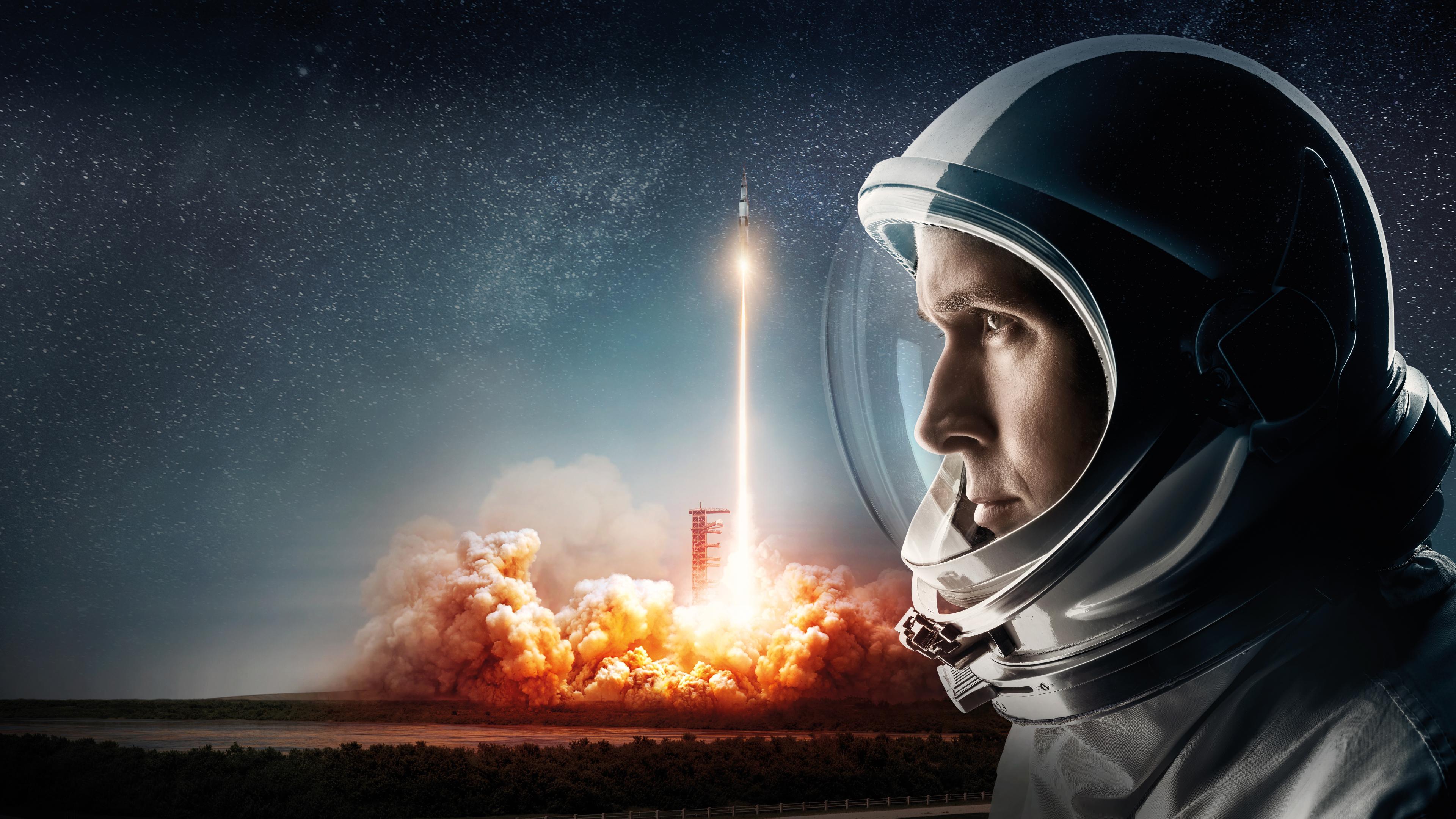 People 3840x2160 Moon space NASA astronaut spacesuit rocket stars movies