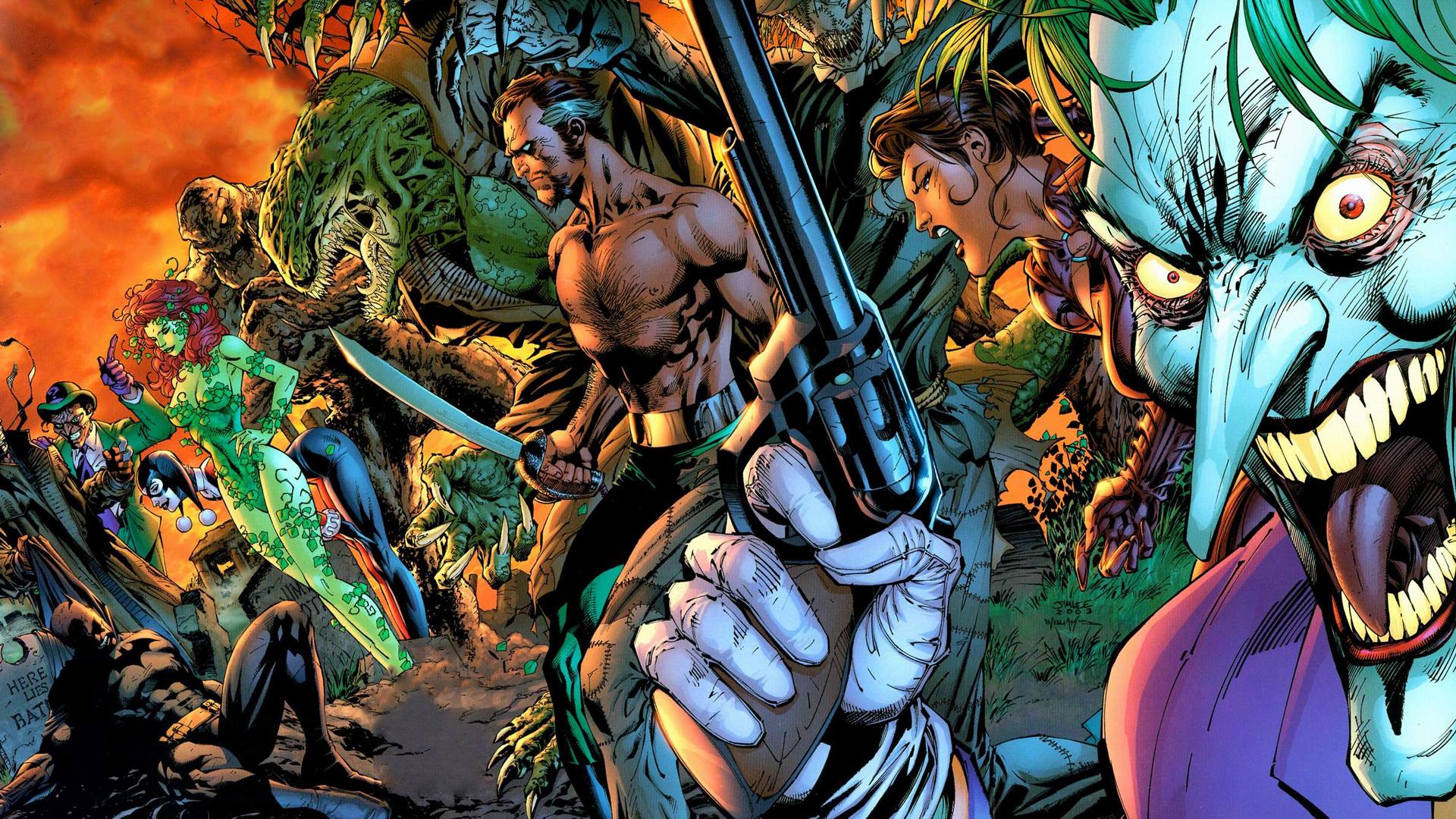 General 1920x1080 DC Comics Joker Talia al Ghul Ra's Al Ghul Scarecrow (character) Killer Croc Clayface Poison Ivy Harley Quinn The Riddler Hush Batman