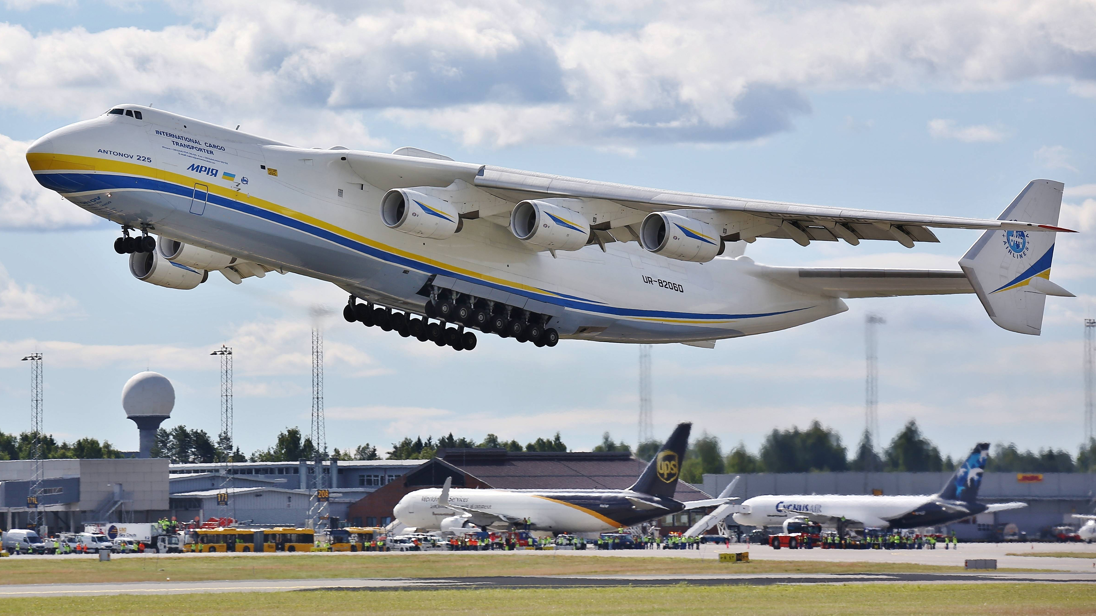 General 3840x2160 Antonov An-225 Mriya aircraft airport transport cargo