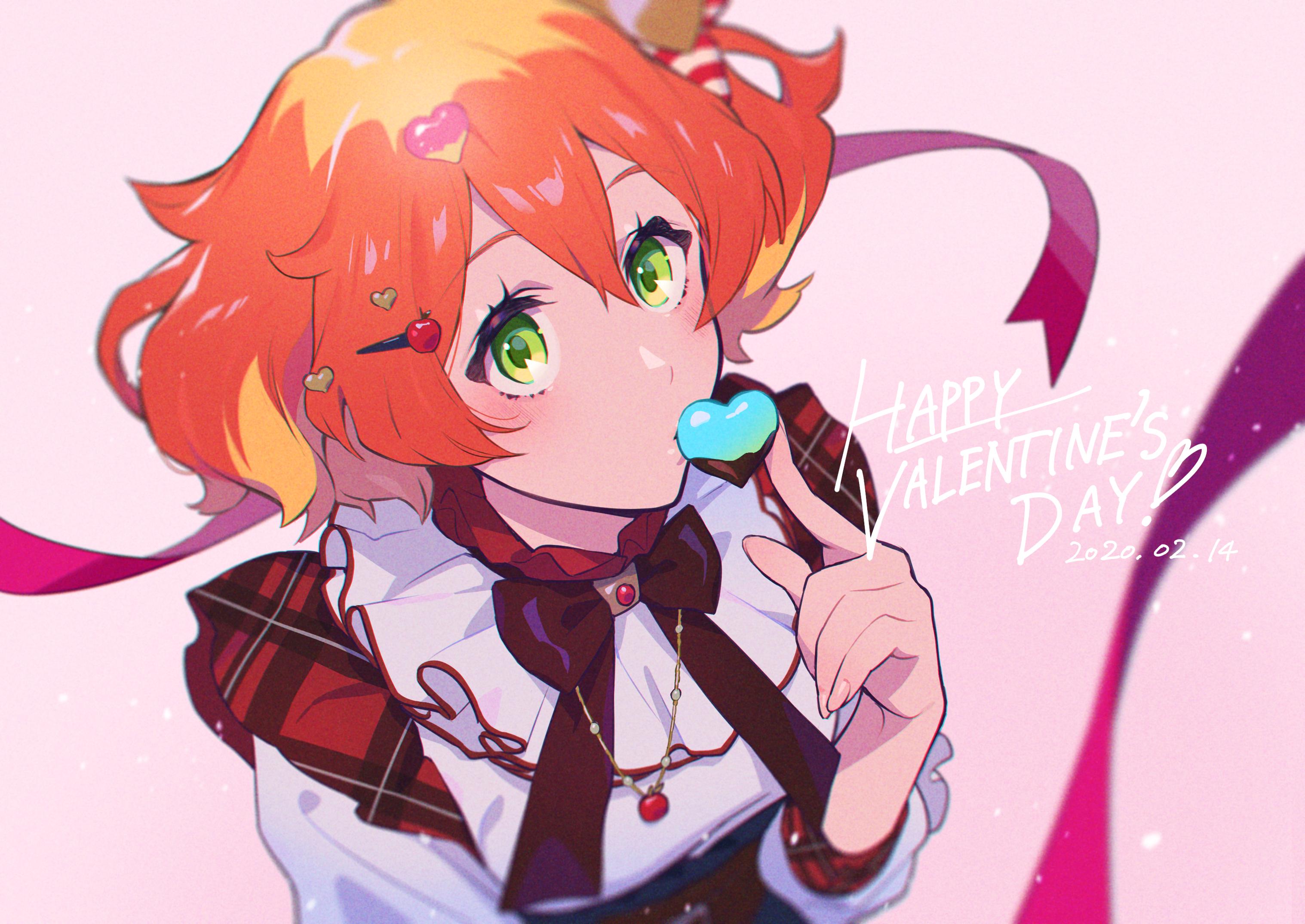 Anime 3035x2150 anime anime girls Valentine's Day Macross Delta Freyja Wion readhead anime girls eating