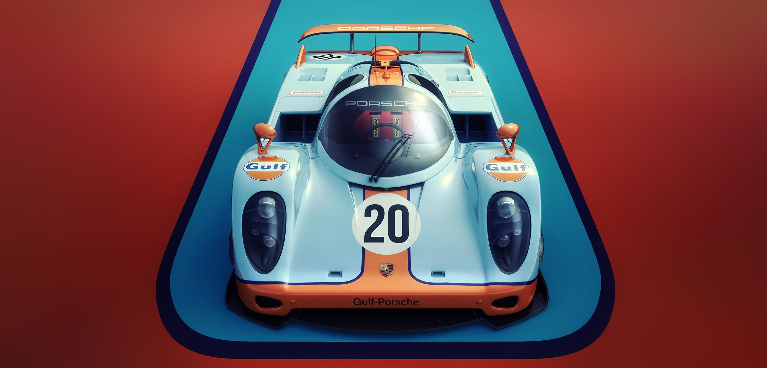 General 2500x1200 car vehicle artwork Porsche 917 Porsche