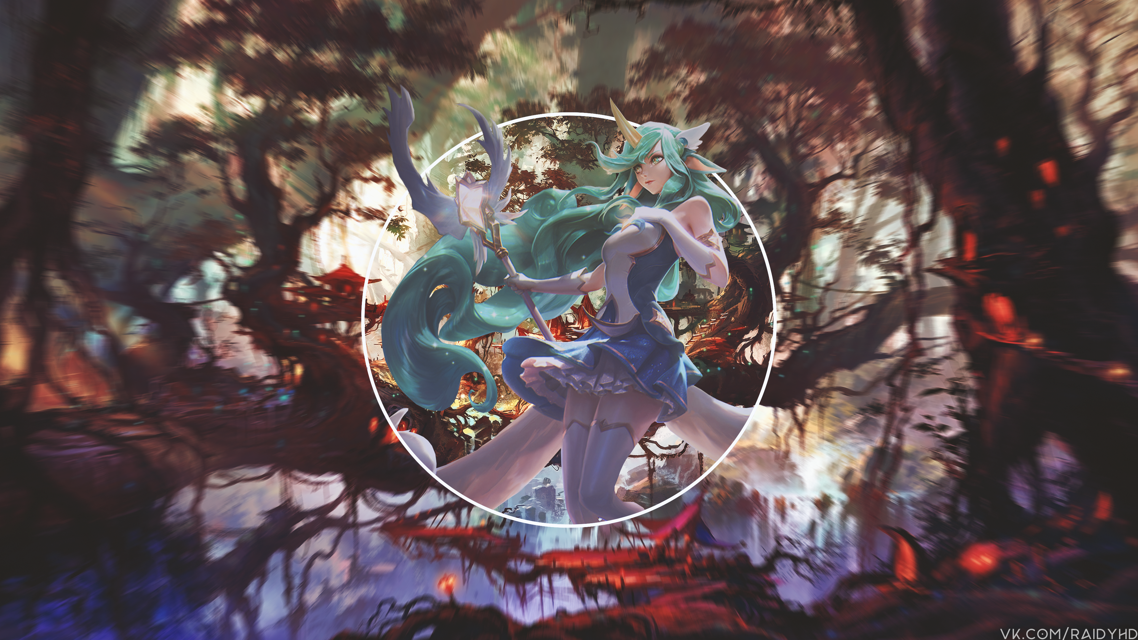 Anime 3840x2160 anime anime girls picture-in-picture League of Legends Soraka (League of Legends)