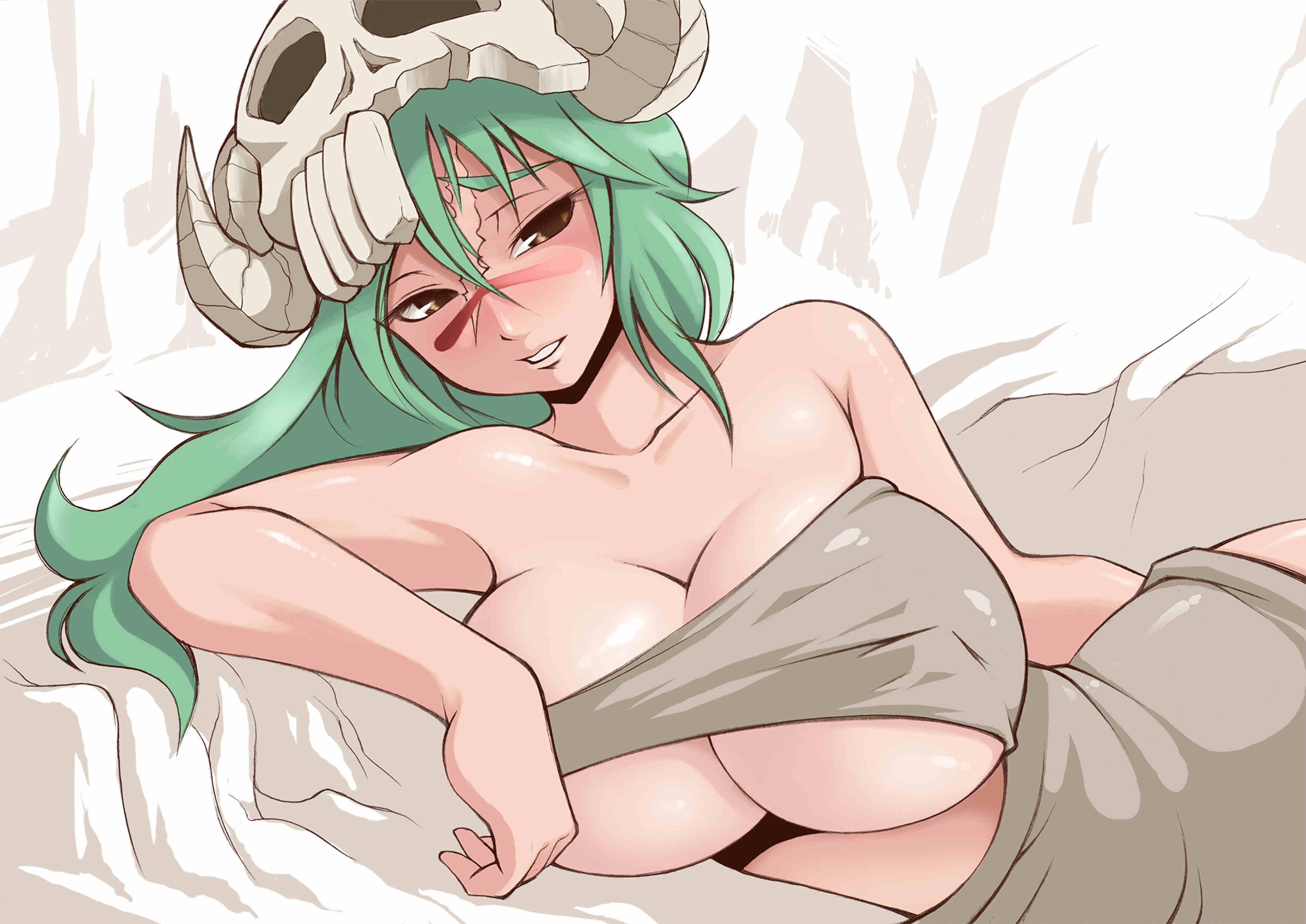 Anime 3533x2500 anime anime girls boobs Bleach big boobs green hair skull Nelliel Tu Odelschwanck