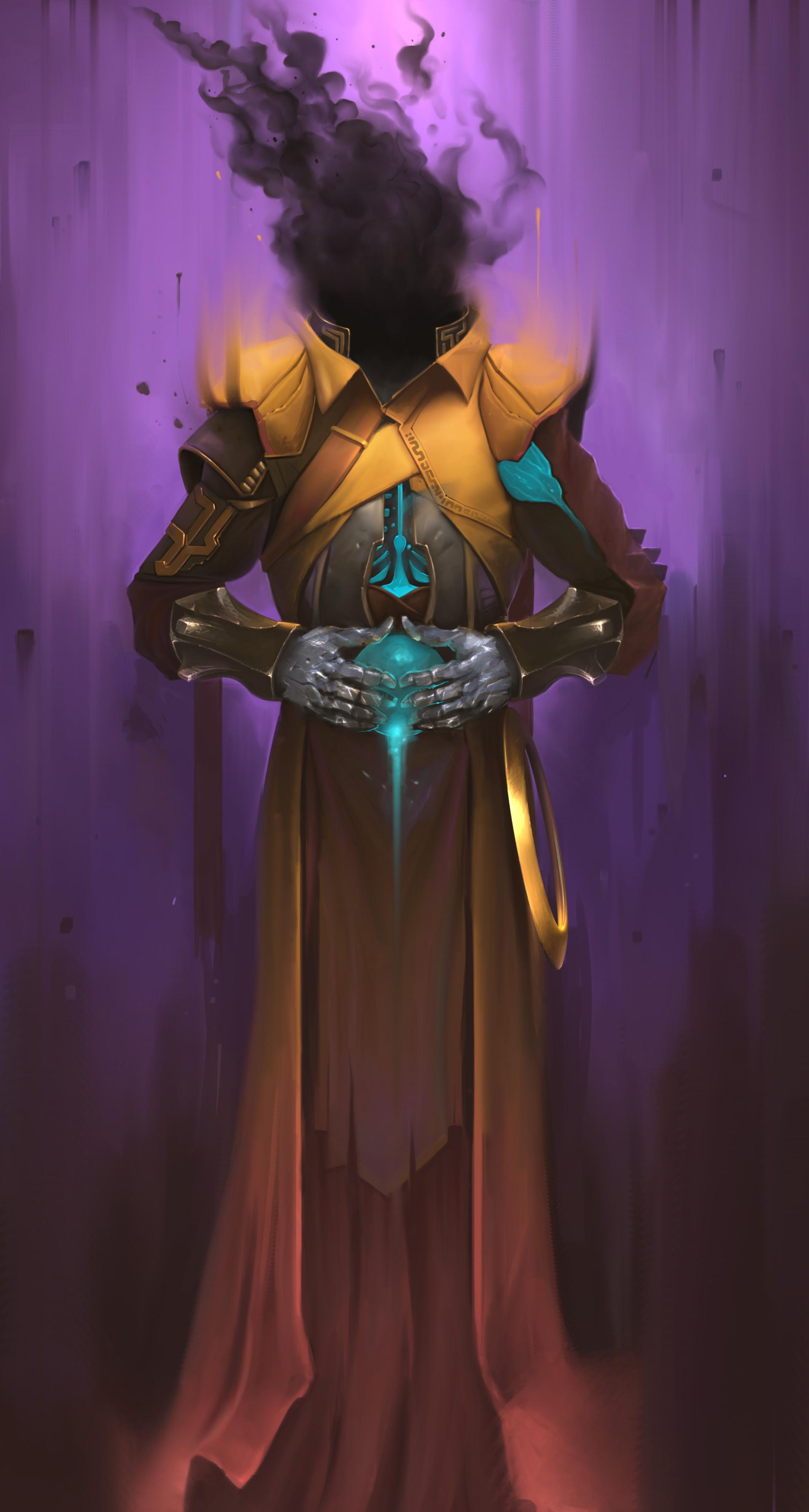General 1920x3587 Vladimir Matiukhin dark wizard hood dress