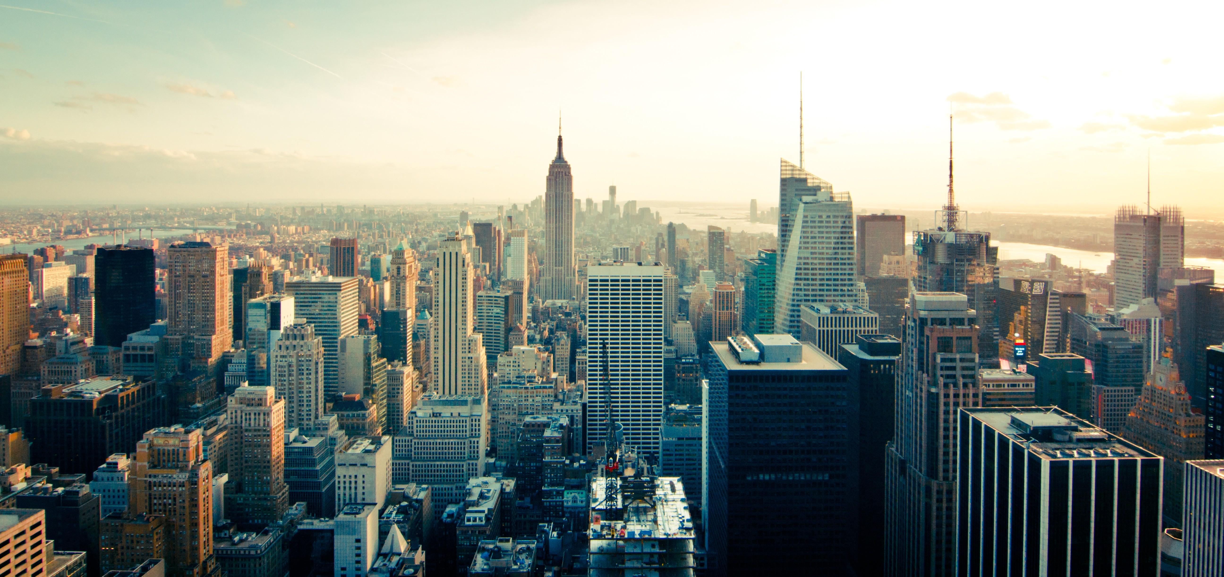 General 5183x2444 city skyline building New York City aerial view USA Manhattan
