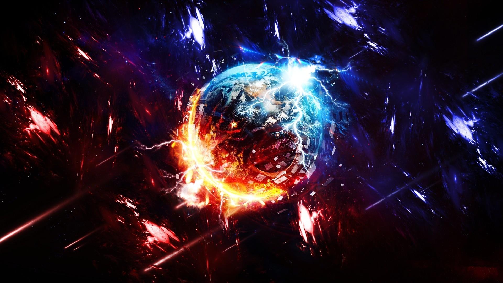 General 1920x1080 space planet destruction