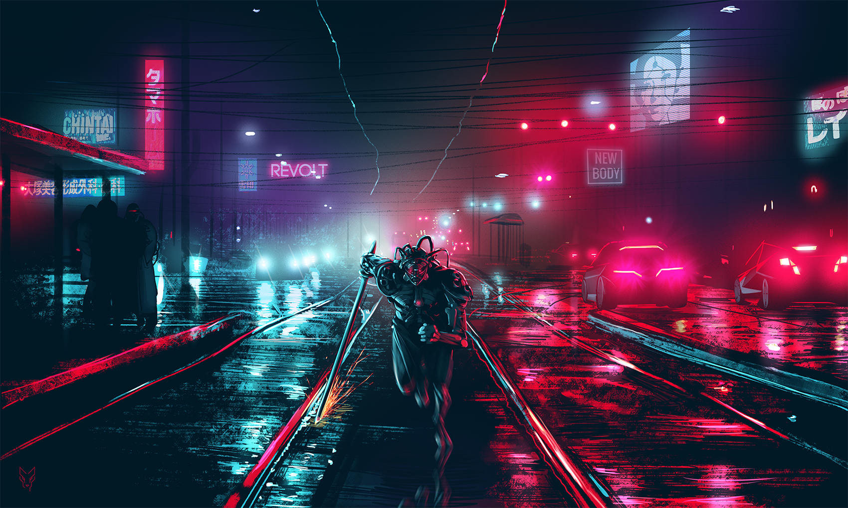 General 1700x1020 Dark Cyberpunk cityscape cyberpunk night dark lights futuristic