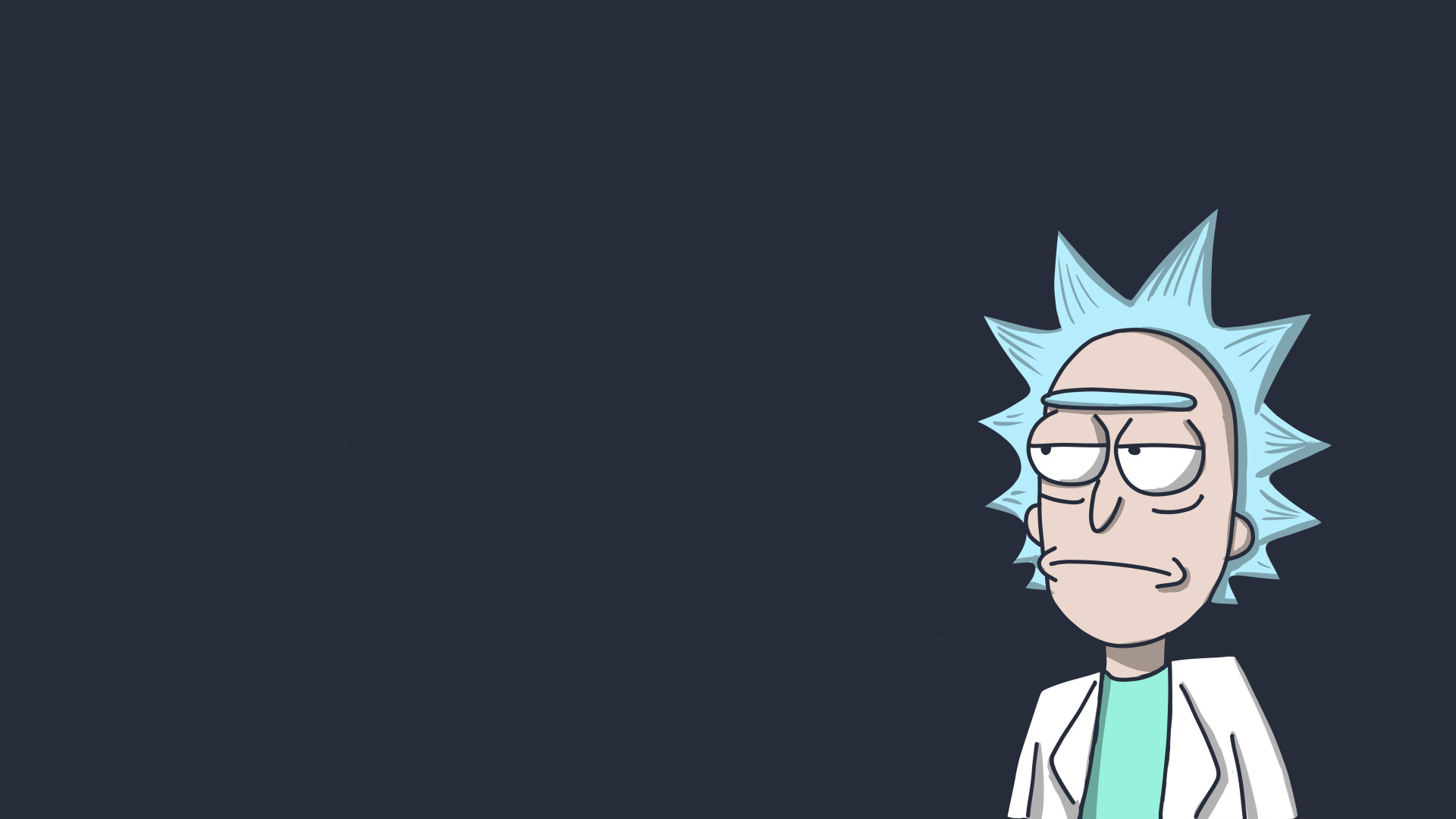General 1920x1080 Rick and Morty Rick Sanchez TV Adult Swim cartoon cyan simple gray simple background