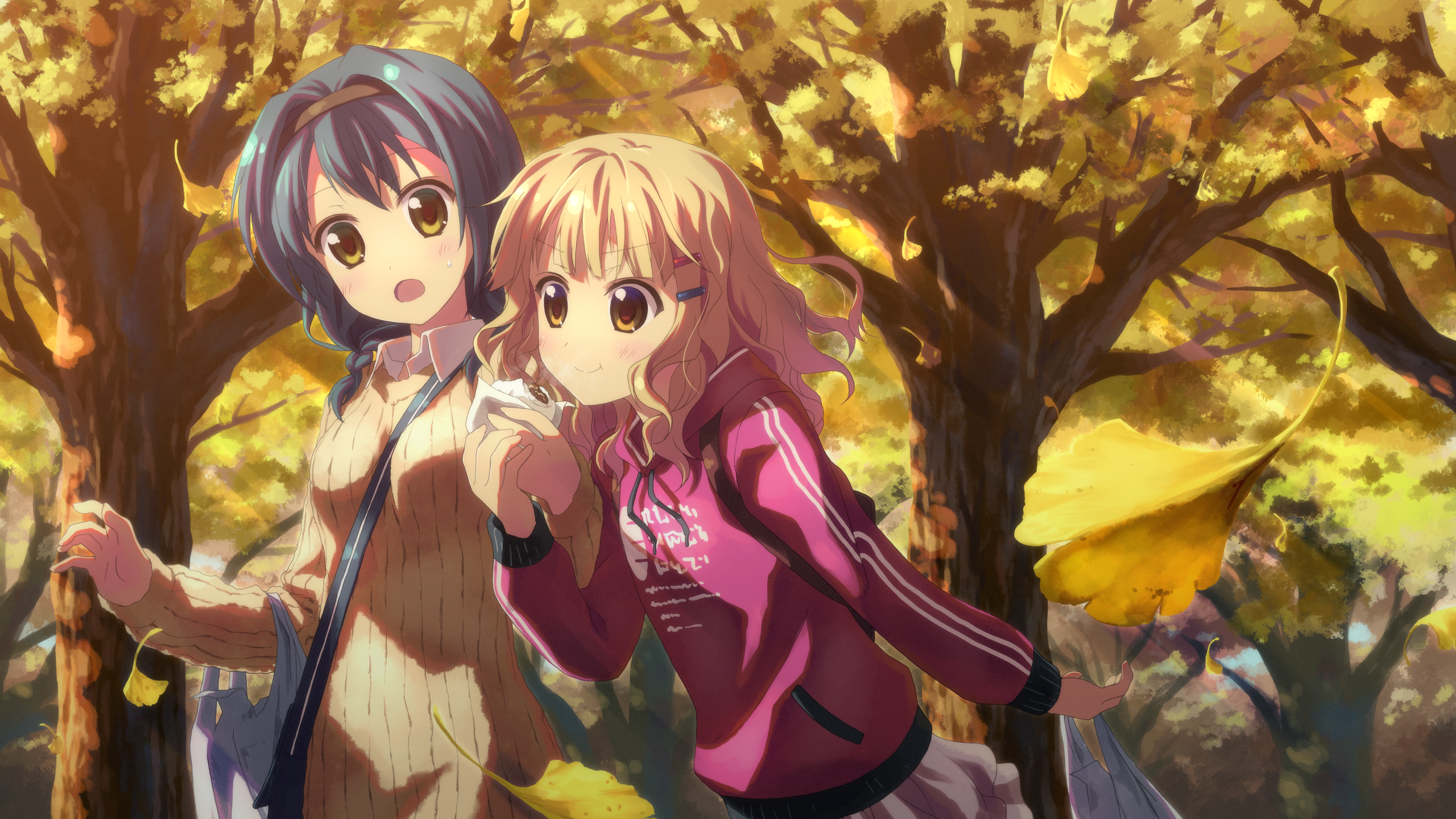 Anime 2560x1440 Yuru Yuri Furutani Himawari Oomuro Sakurako