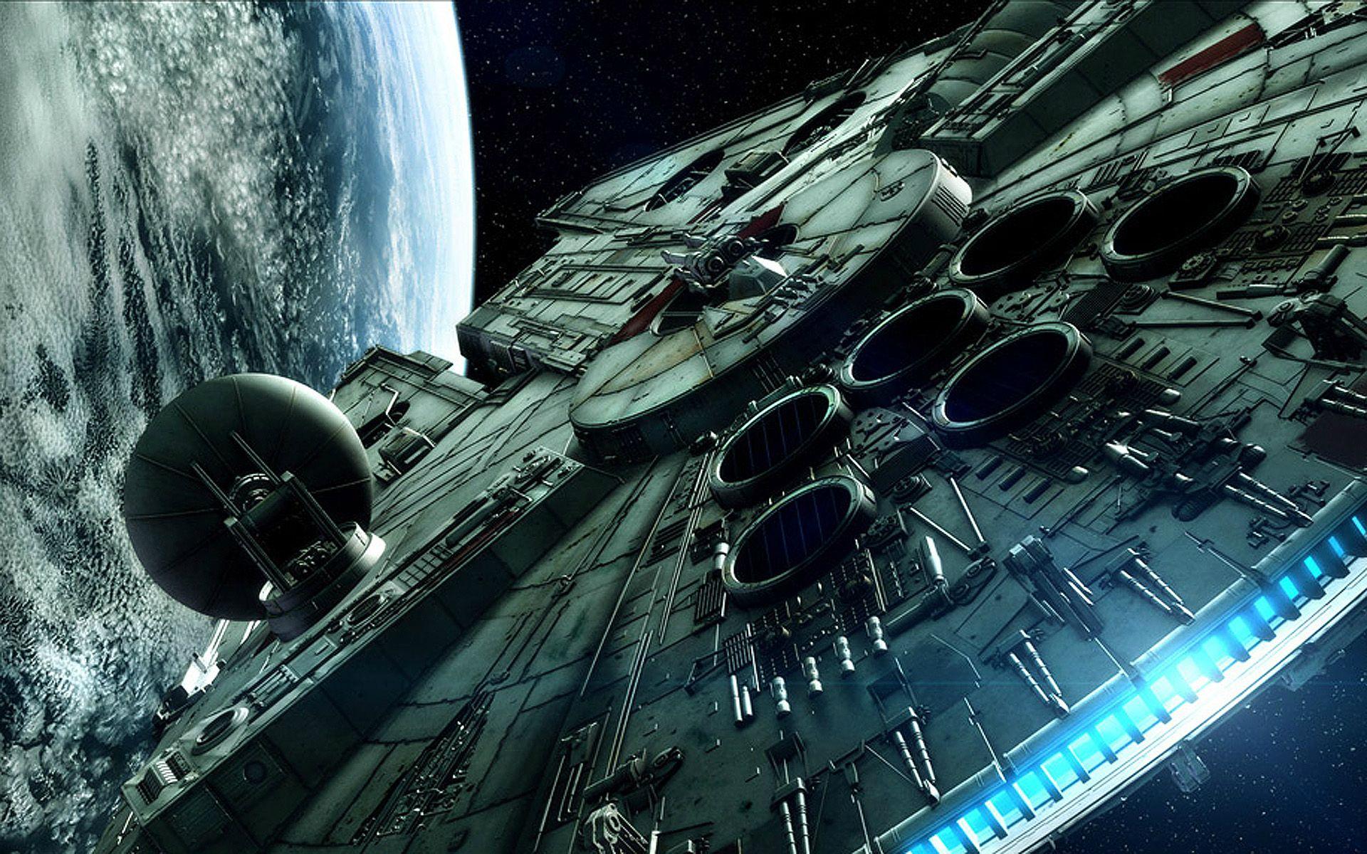 General 1920x1200 Star Wars Millennium Falcon spaceship planet space vehicle space art movies CGI render digital art science fiction Star Wars Ships