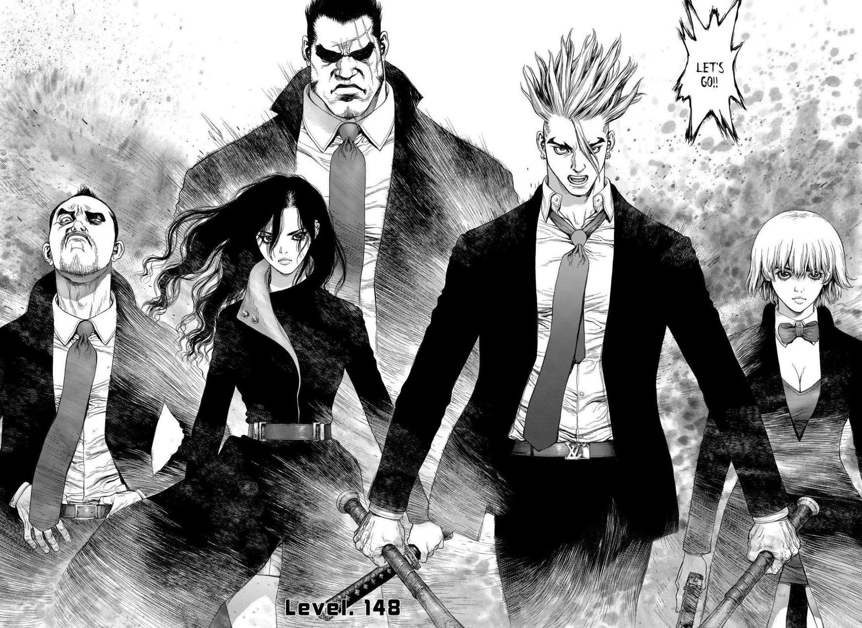 Anime 1740x1268 Sun Ken Rock manga monochrome anime girls anime boys anime