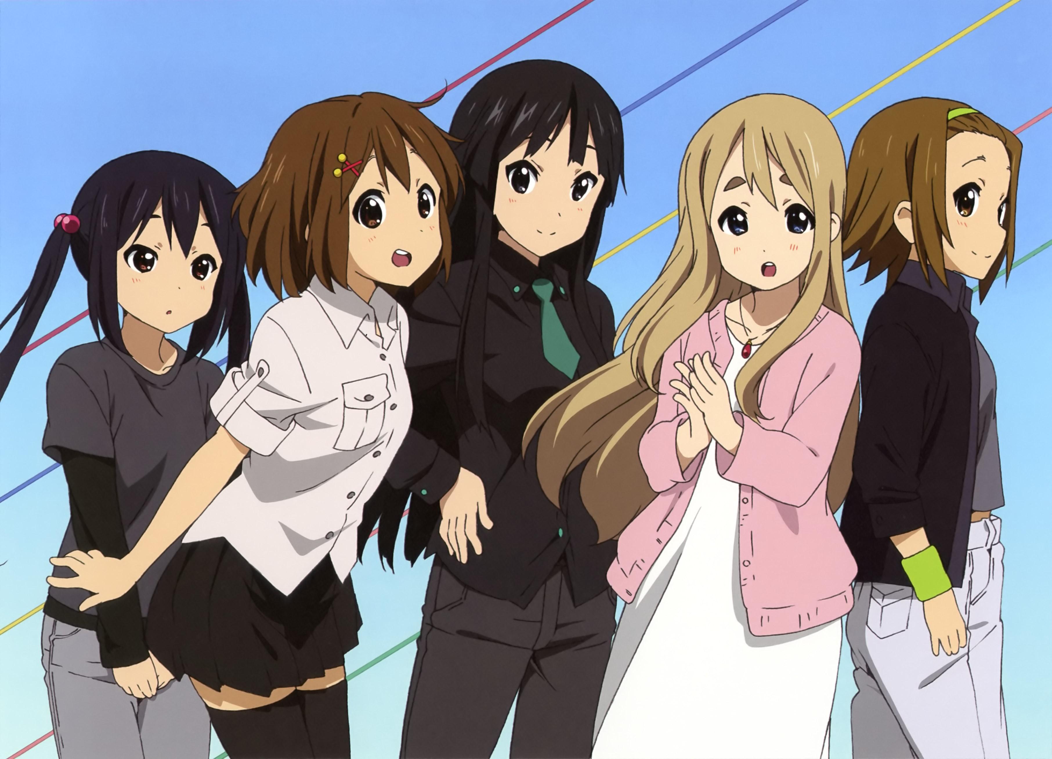 Anime 3626x2617 K-ON! Nakano Azusa Hirasawa Yui Tainaka Ritsu Kotobuki Tsumugi Akiyama Mio