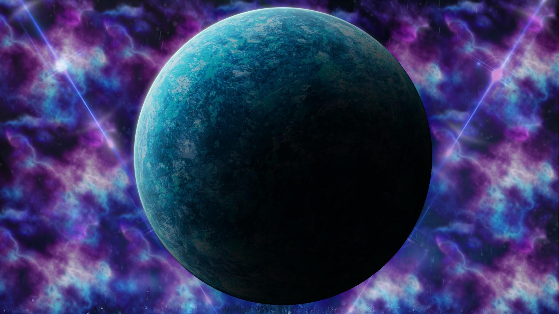 General 1920x1080 space nebula planet space art digital art