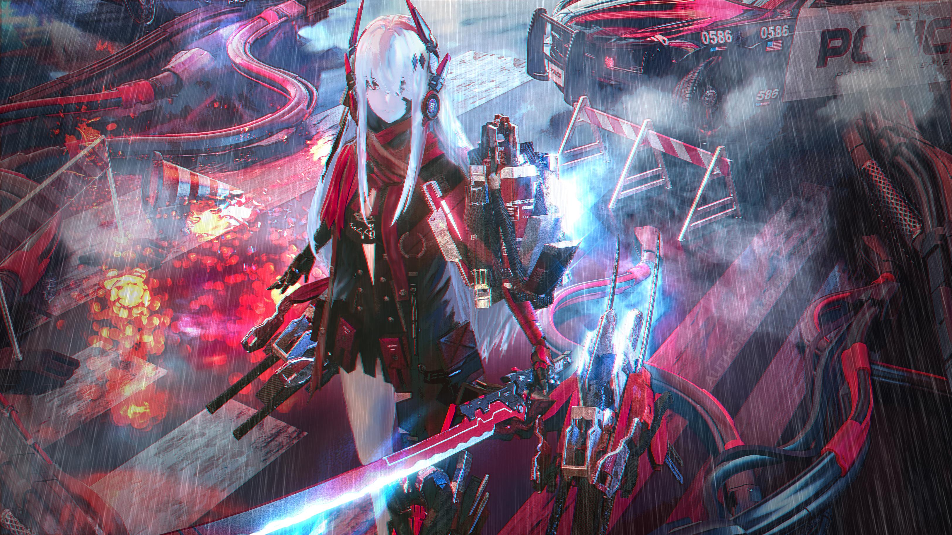 Anime 3250x1828 Punishing: Gray Raven science fiction cyborg anime girls Seymour