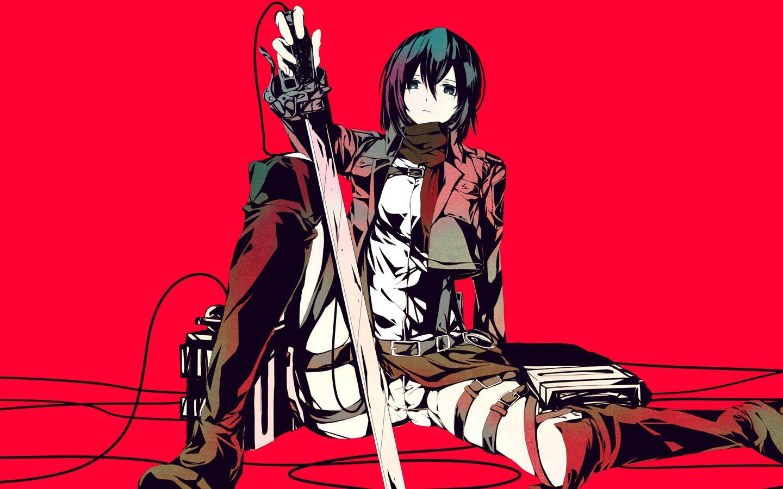Anime 1440x900 anime girls anime games Shingeki no Kyojin Mikasa Ackerman
