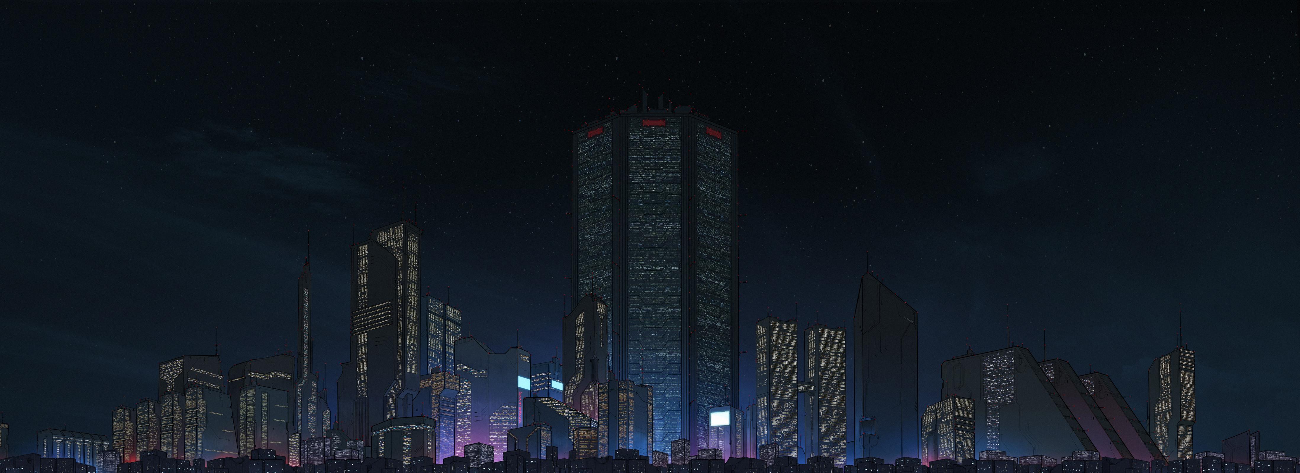 General 4393x1600 cyberpunk city ultrawide 4K