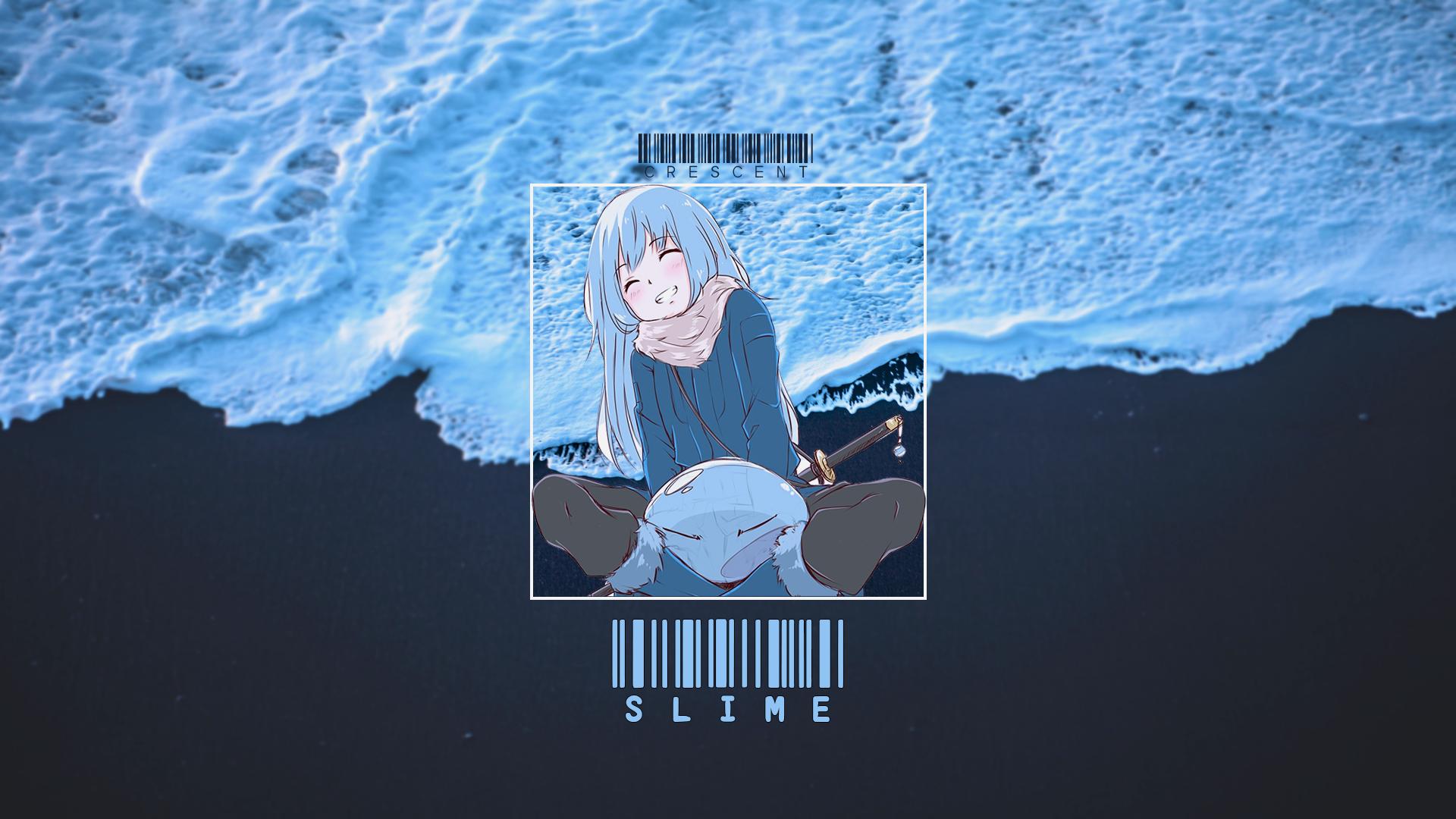 Anime 1920x1080 Tensei Shitara Slime Datta Ken Rimuru anime picture-in-picture cyan