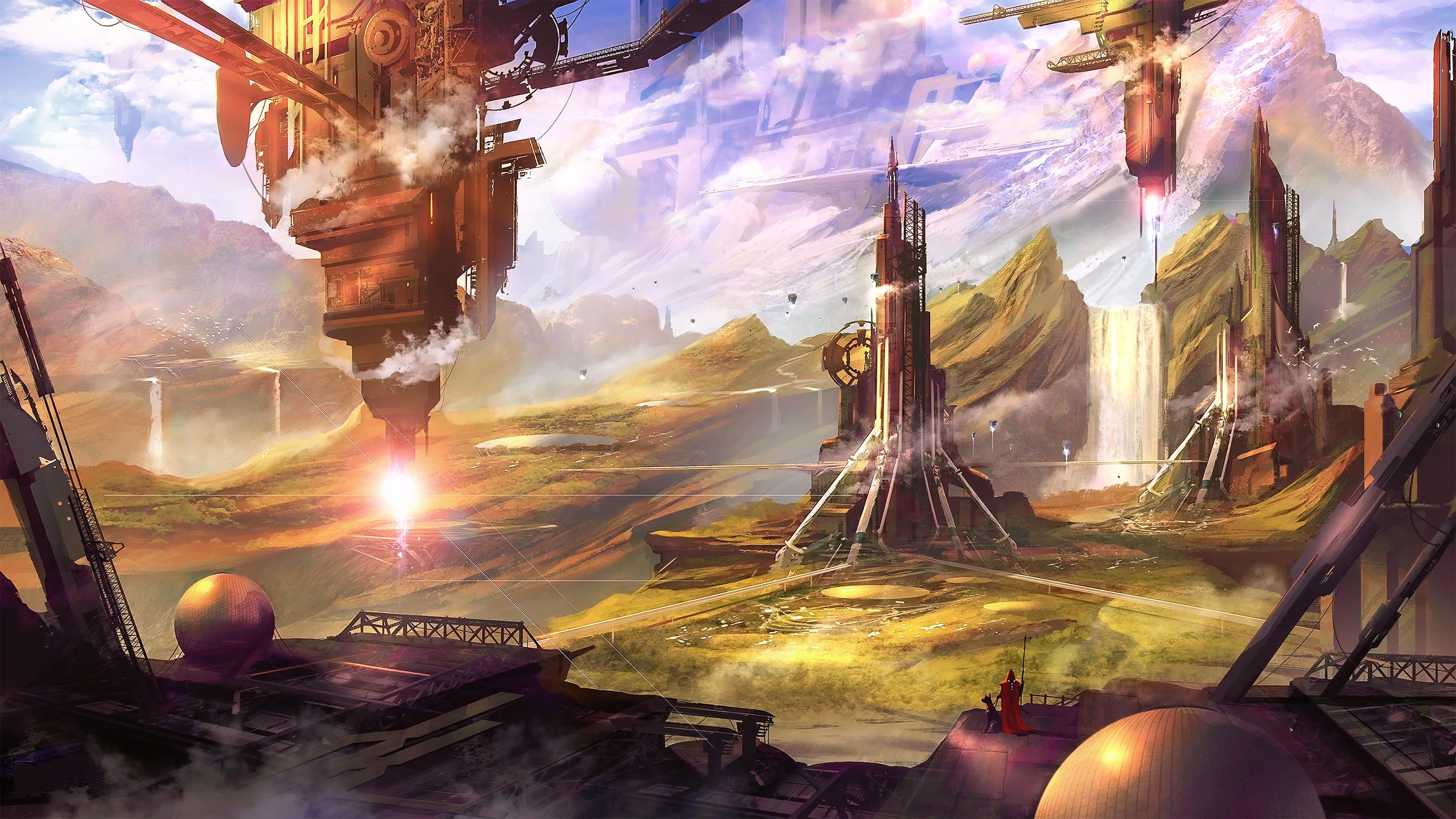General 3840x2160 science fiction digital art concept art artwork futuristic fantasy art fan art 3D CGI cyberpunk cyber cityscape