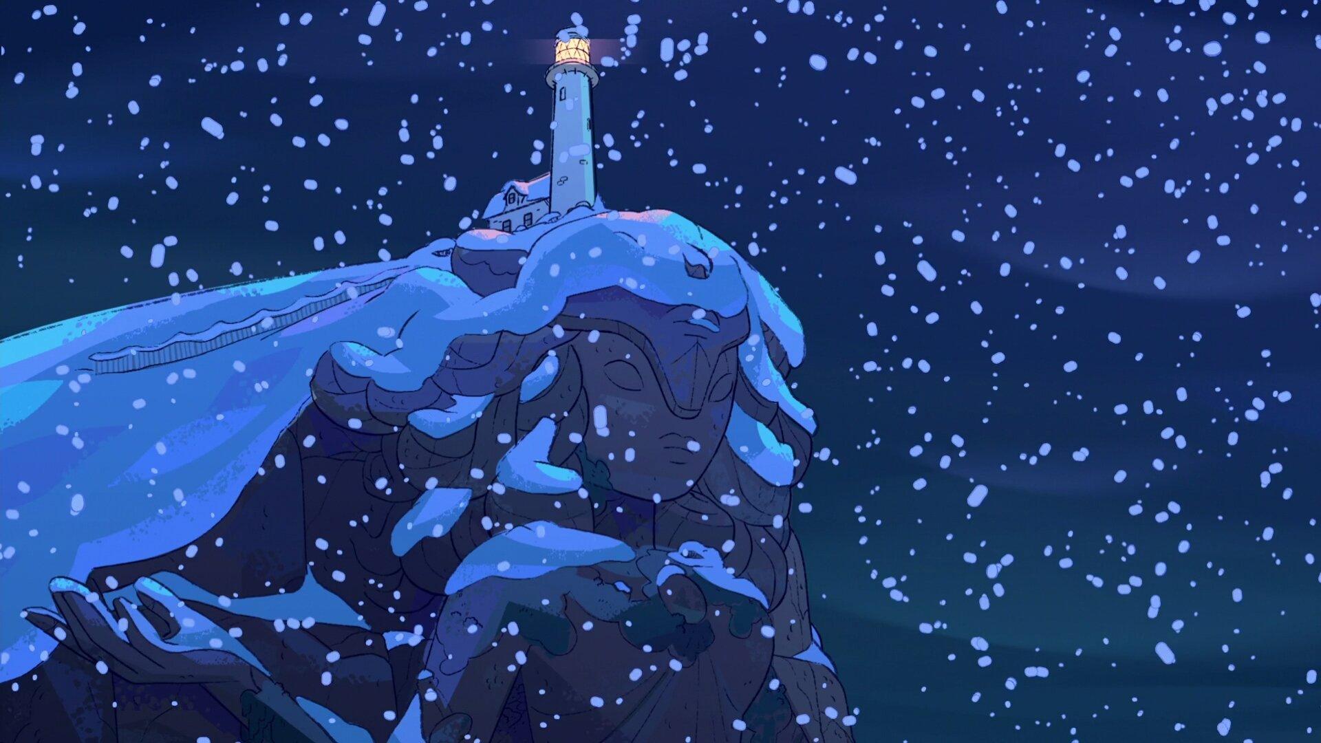 General 1920x1080 Steven Universe Steven Universe (TV Show) snow lighthouse cartoon blue night snowing