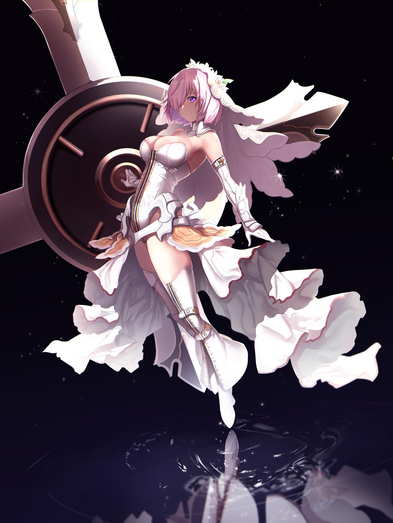 Anime 1313x1746 anime anime girls digital art artwork 2D portrait display vertical Fate Series Shielder (Fate/Grand Order) Mash Kyrielight Fate/Grand Order fantasy girl