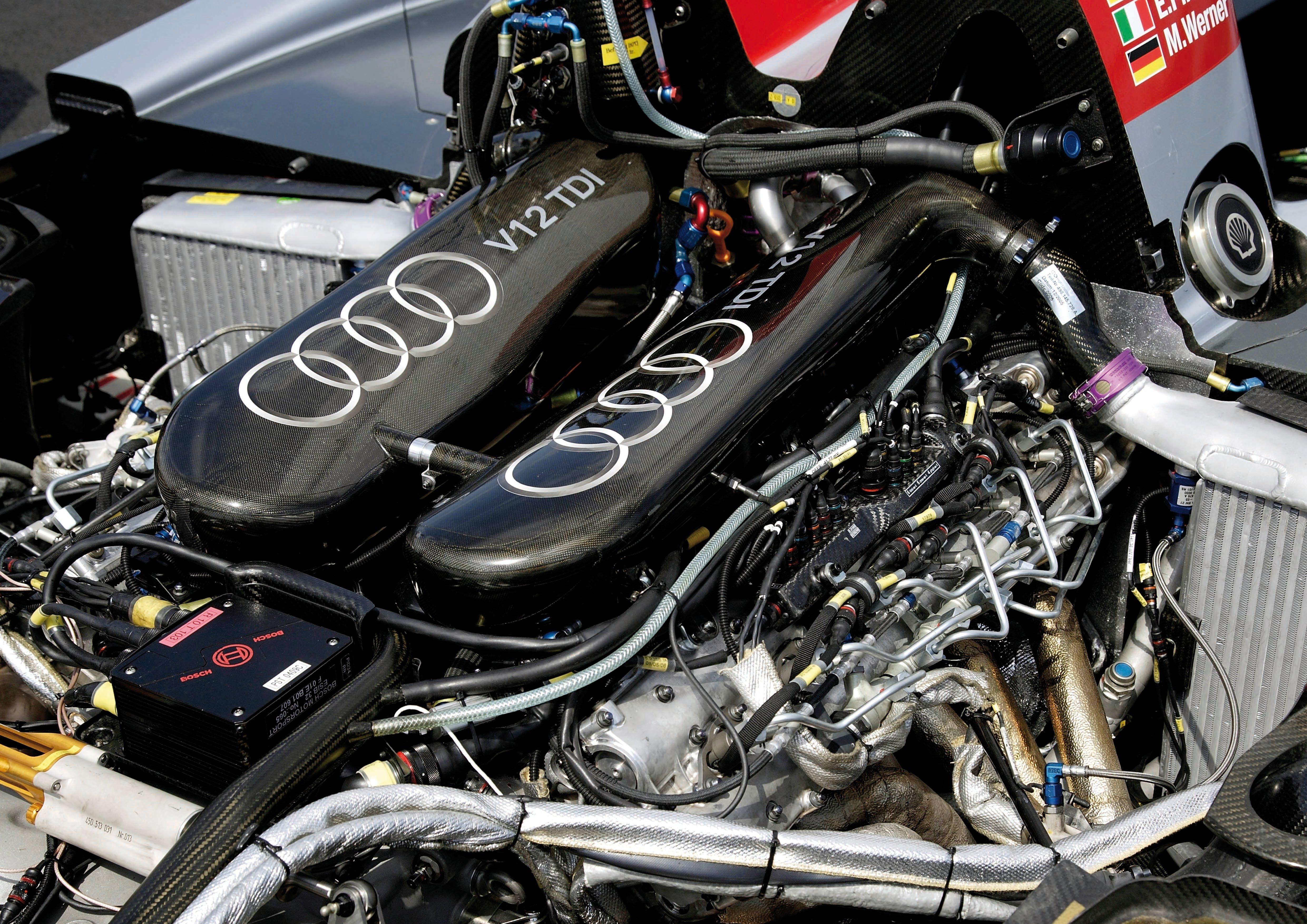 General 4961x3508 audi r18 race cars Audi engine