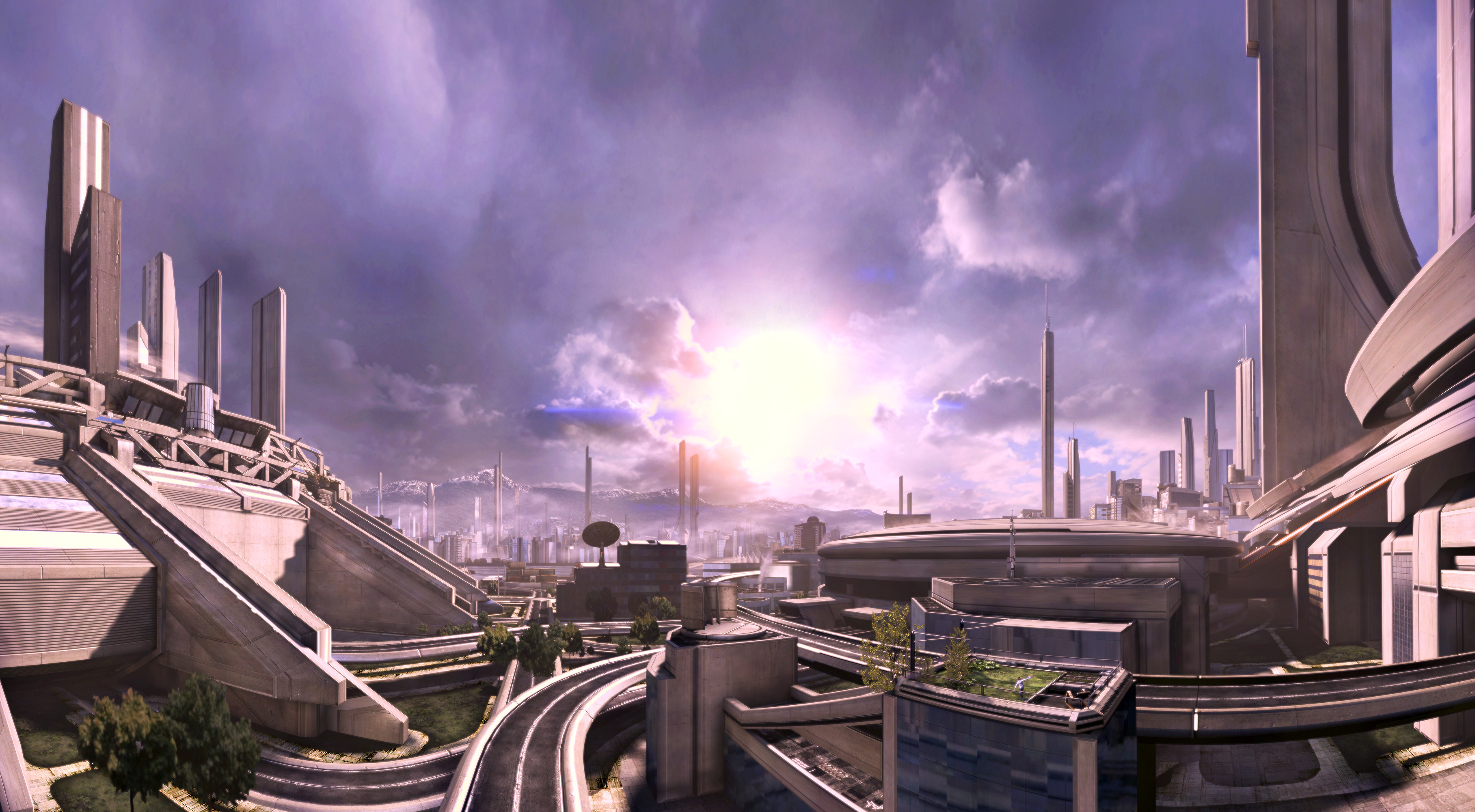 General 3633x2000 Mass Effect Citadel (Mass Effect) space station science fiction space