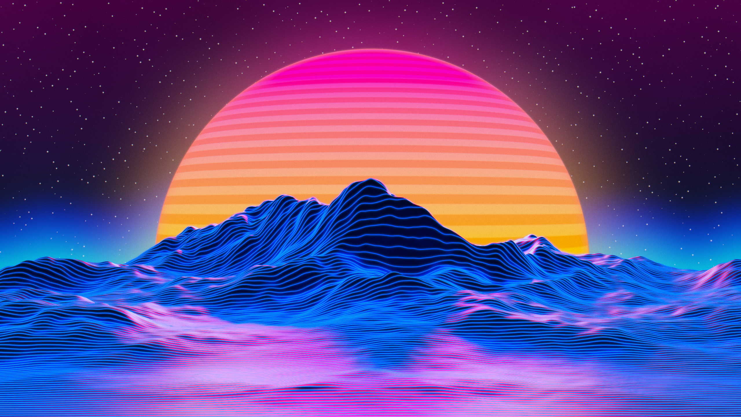 General 2560x1440 OutRun vaporwave digital art synthwave Retrowave neon artwork