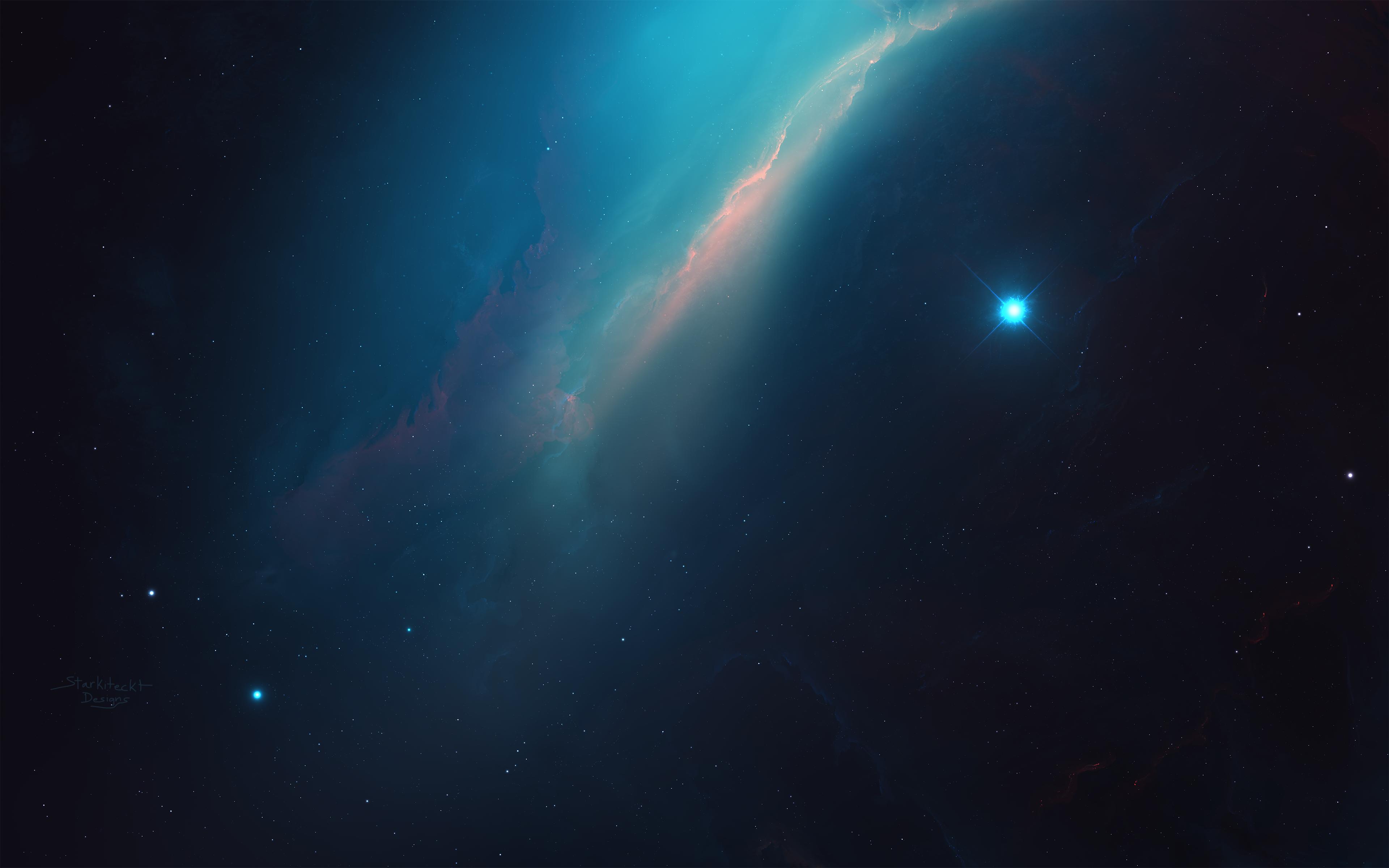 General 3840x2400 Starkiteckt space nebula 3D Abstract universe