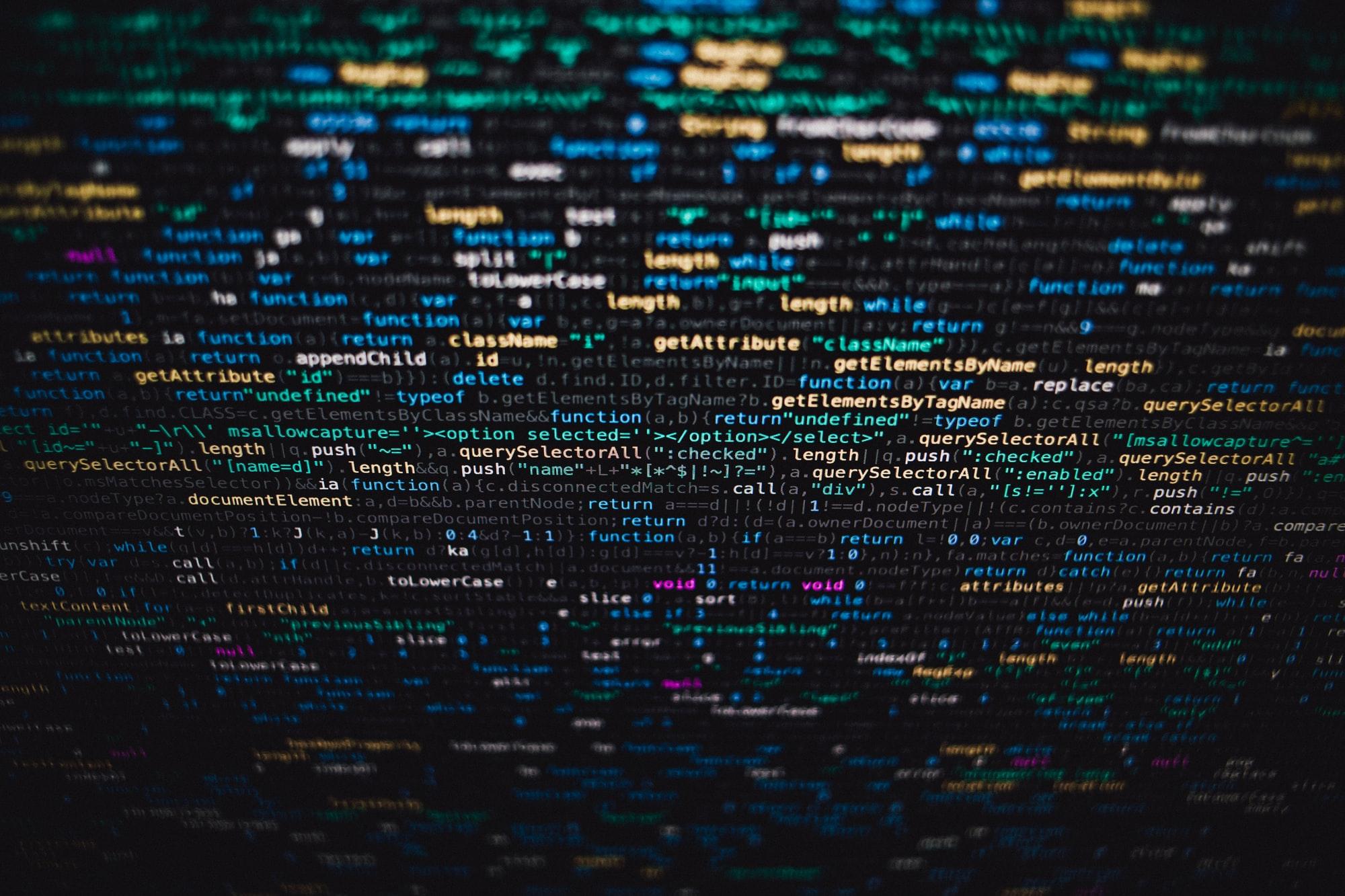 General 2000x1333 JavaScript tilt shift depth of field programming language blurred monitor code