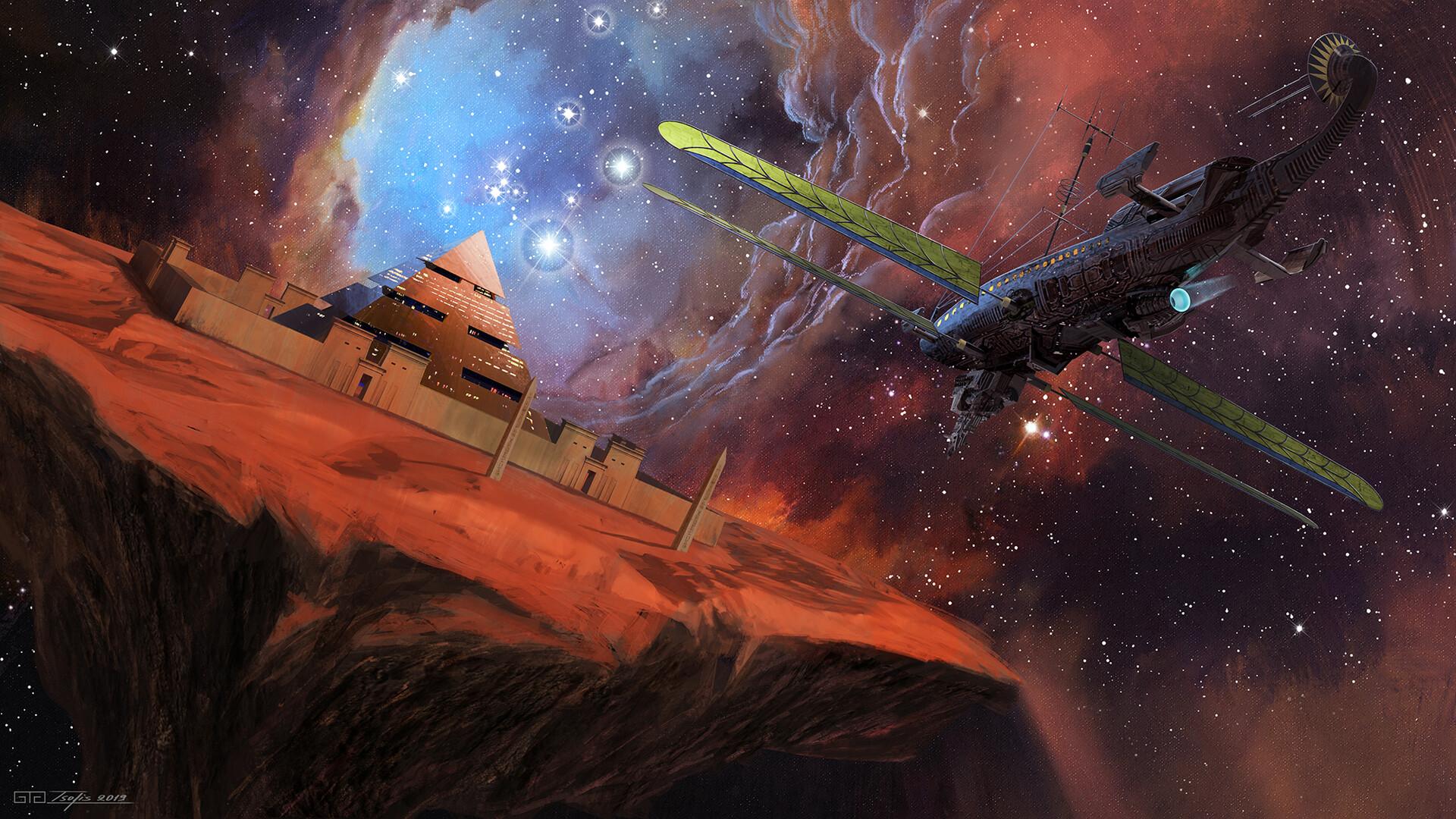 General 1920x1080 space Giorgos Tsolis galaxy pyramid