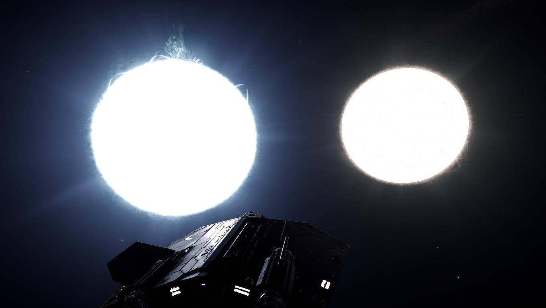 General 1360x768 stars planet Elite: Dangerous ASP Explorer universe spaceship