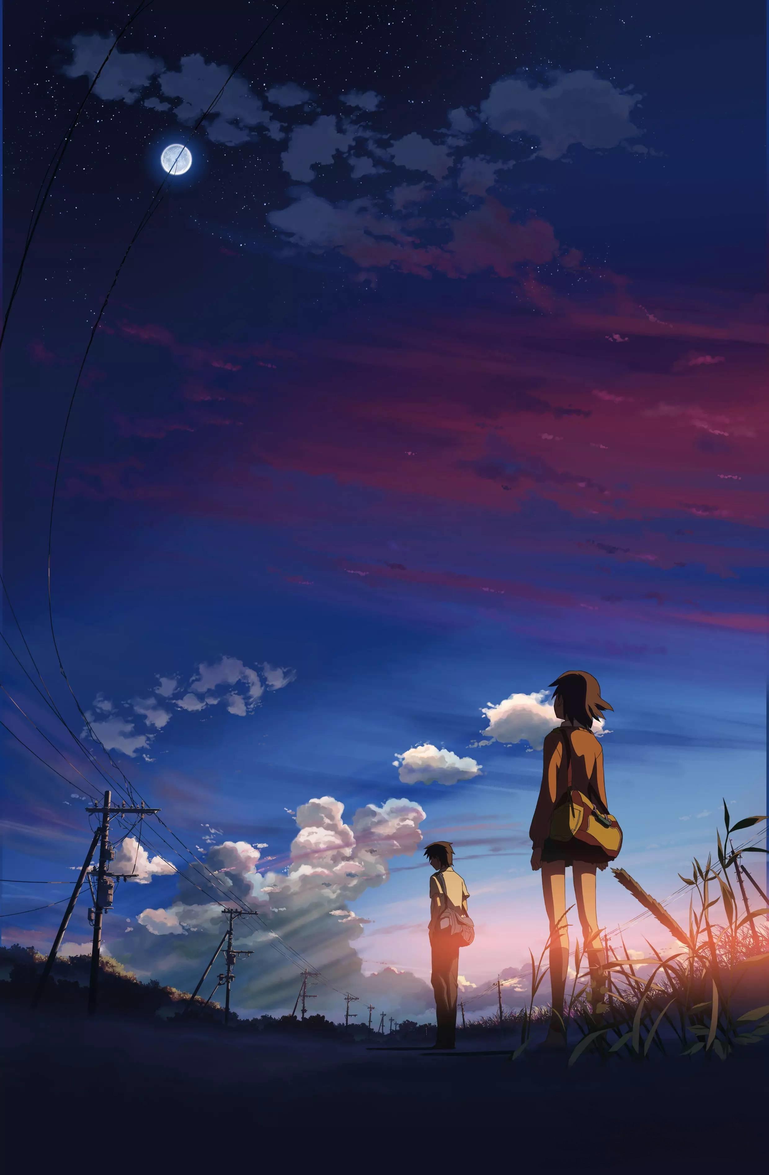 Anime 2480x3787 5 Centimeters Per Second anime Makoto Shinkai
