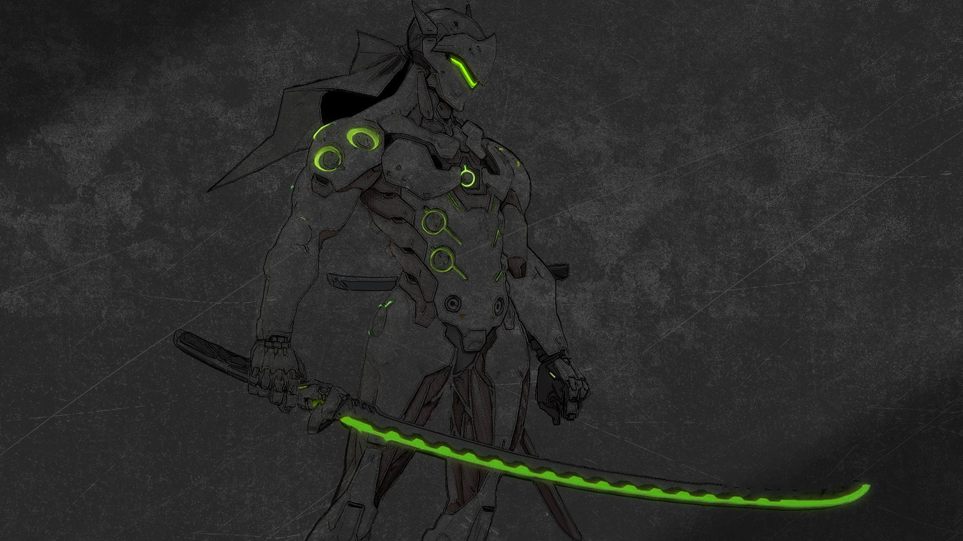 General 1920x1080 Genji (Overwatch) Overwatch dark