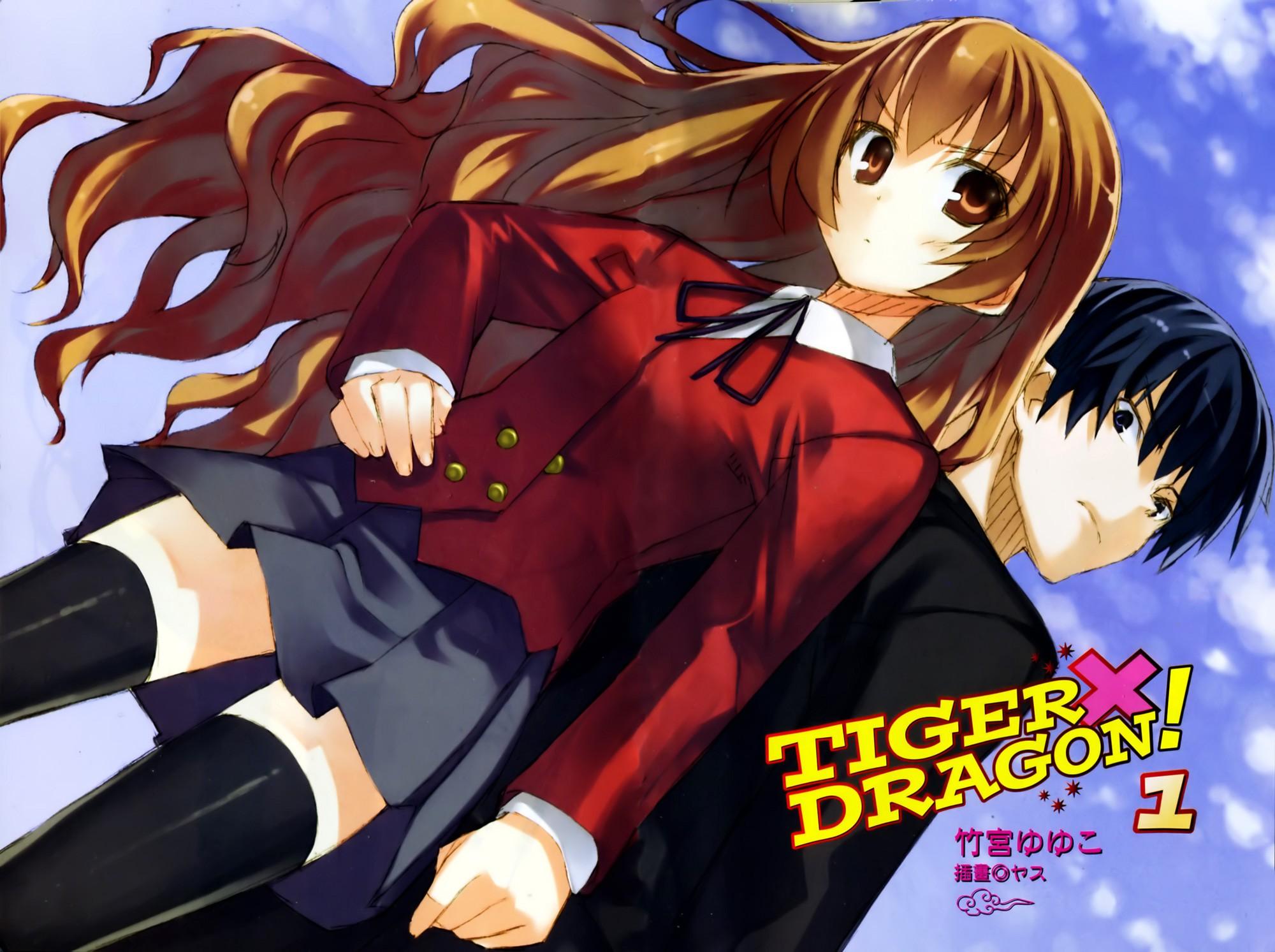 Anime 2000x1493 Toradora! Aisaka Taiga Takasu Ryuuji anime boys anime girls