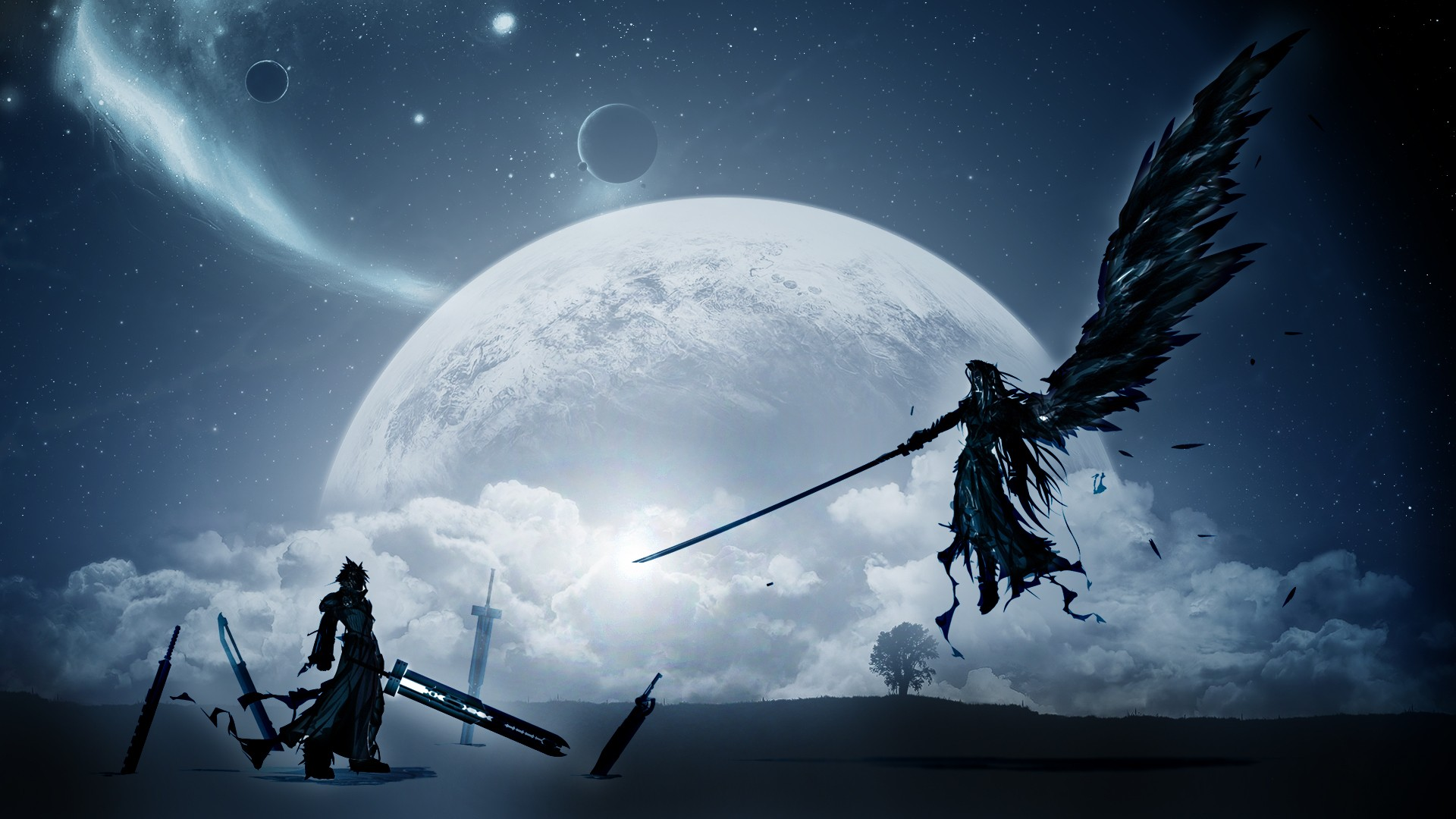 General 1920x1080 Sephiroth Cloud Strife video games Final Fantasy VII Final Fantasy VII: Advent Children