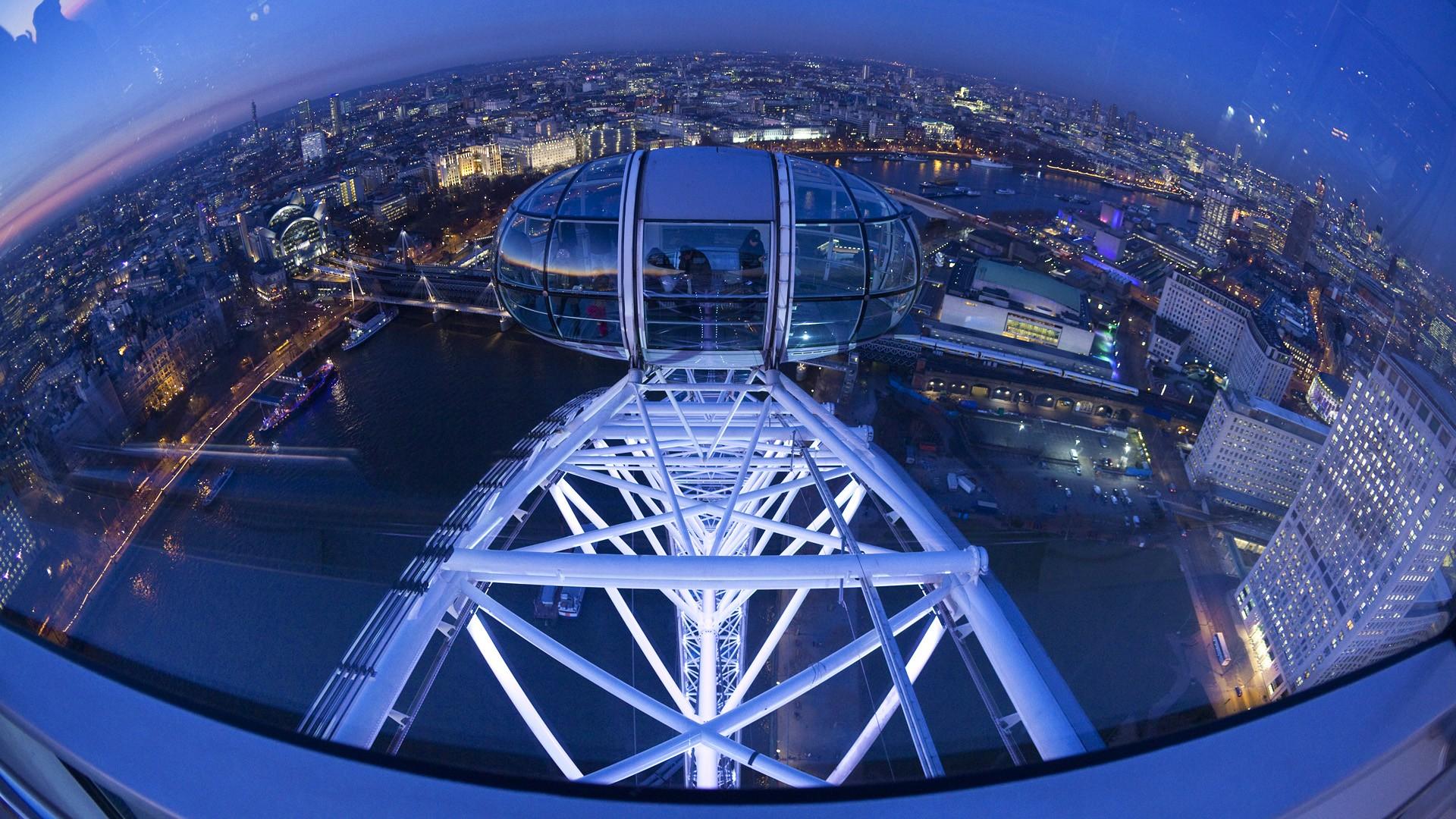 General 1920x1080 London England city cityscape London Eye ferris wheel