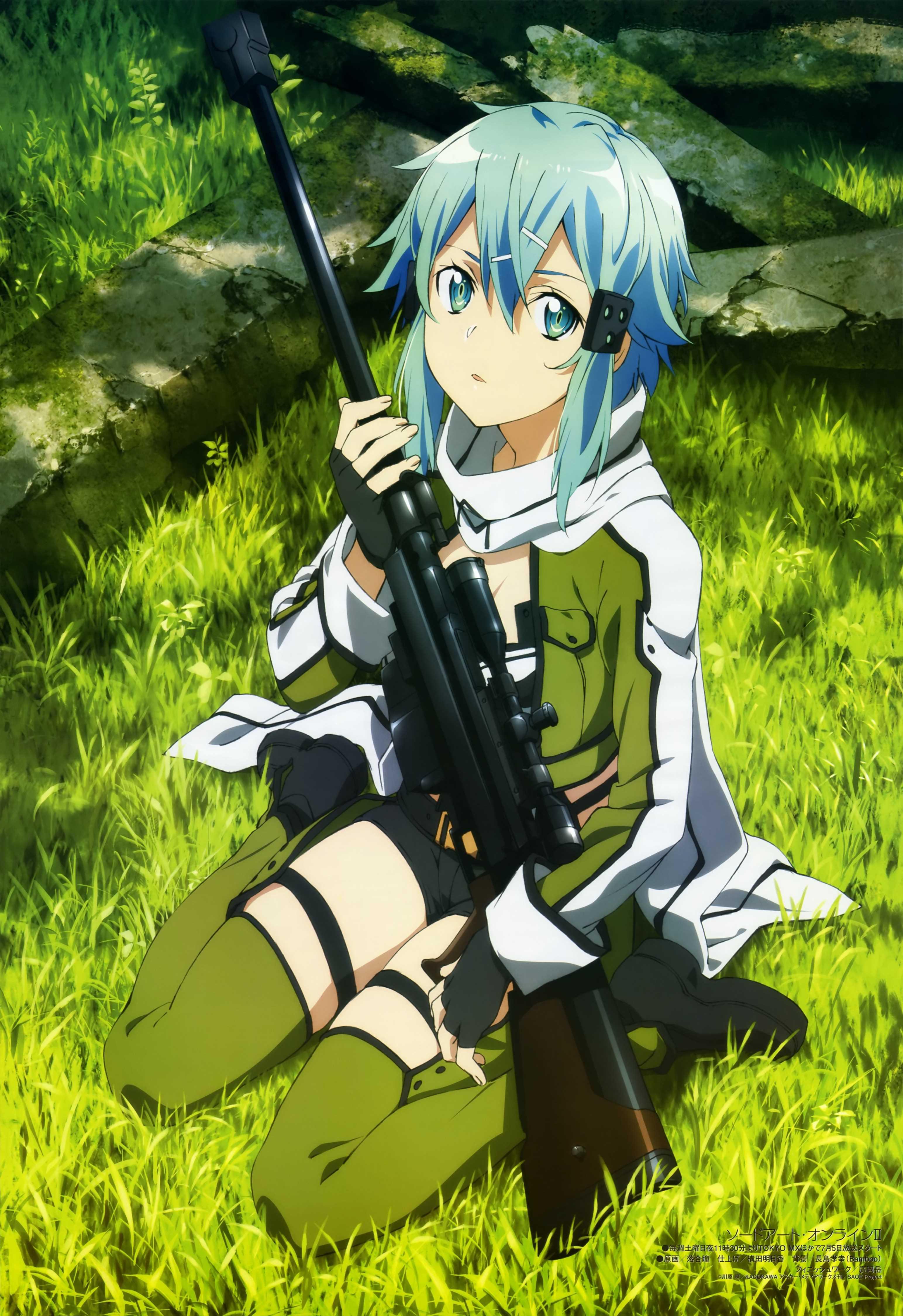 Anime 3088x4500 Sword Art Online Asada Shino anime girls