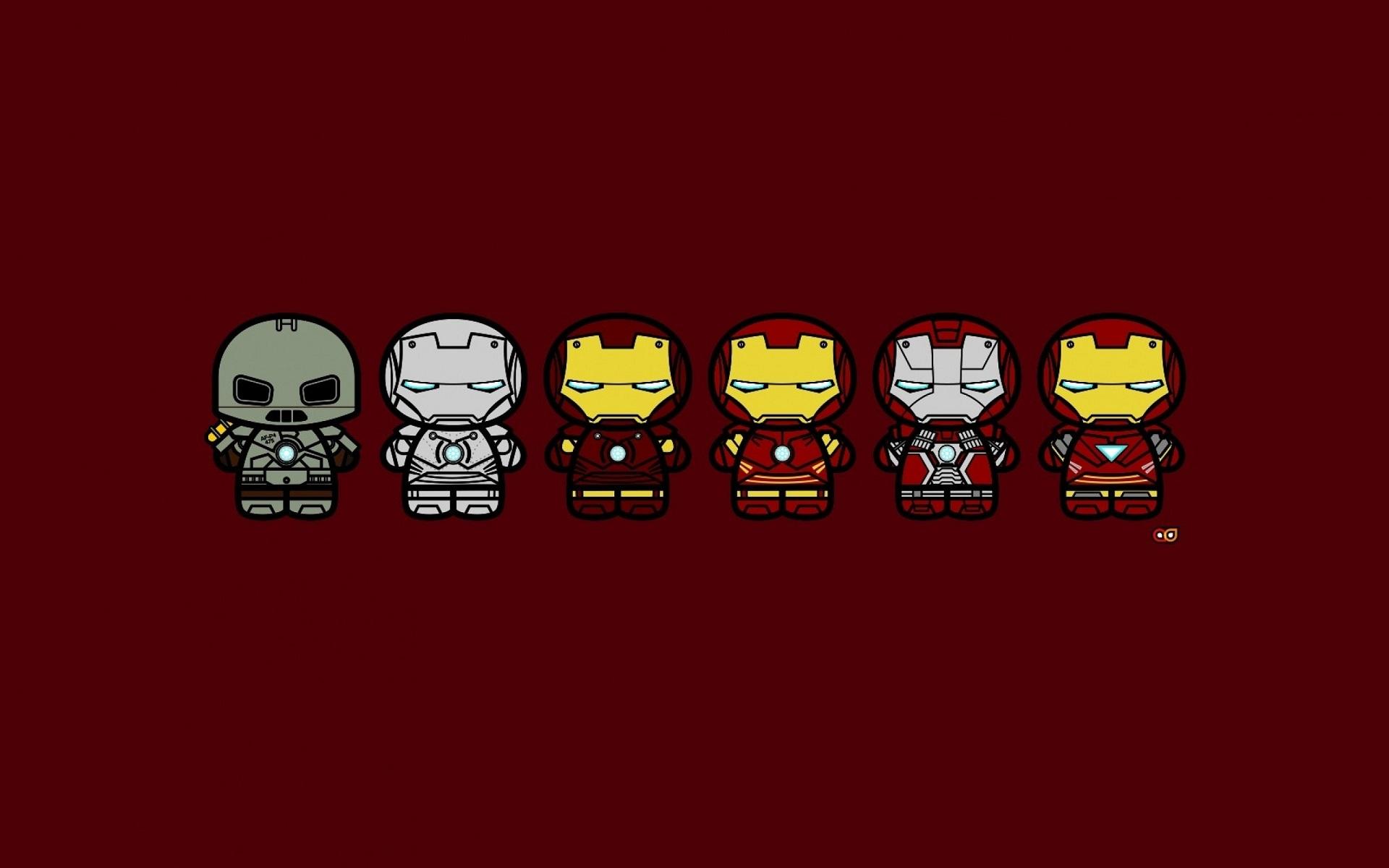General 1920x1200 Iron Man superhero minimalism red Marvel Cinematic Universe Marvel Comics
