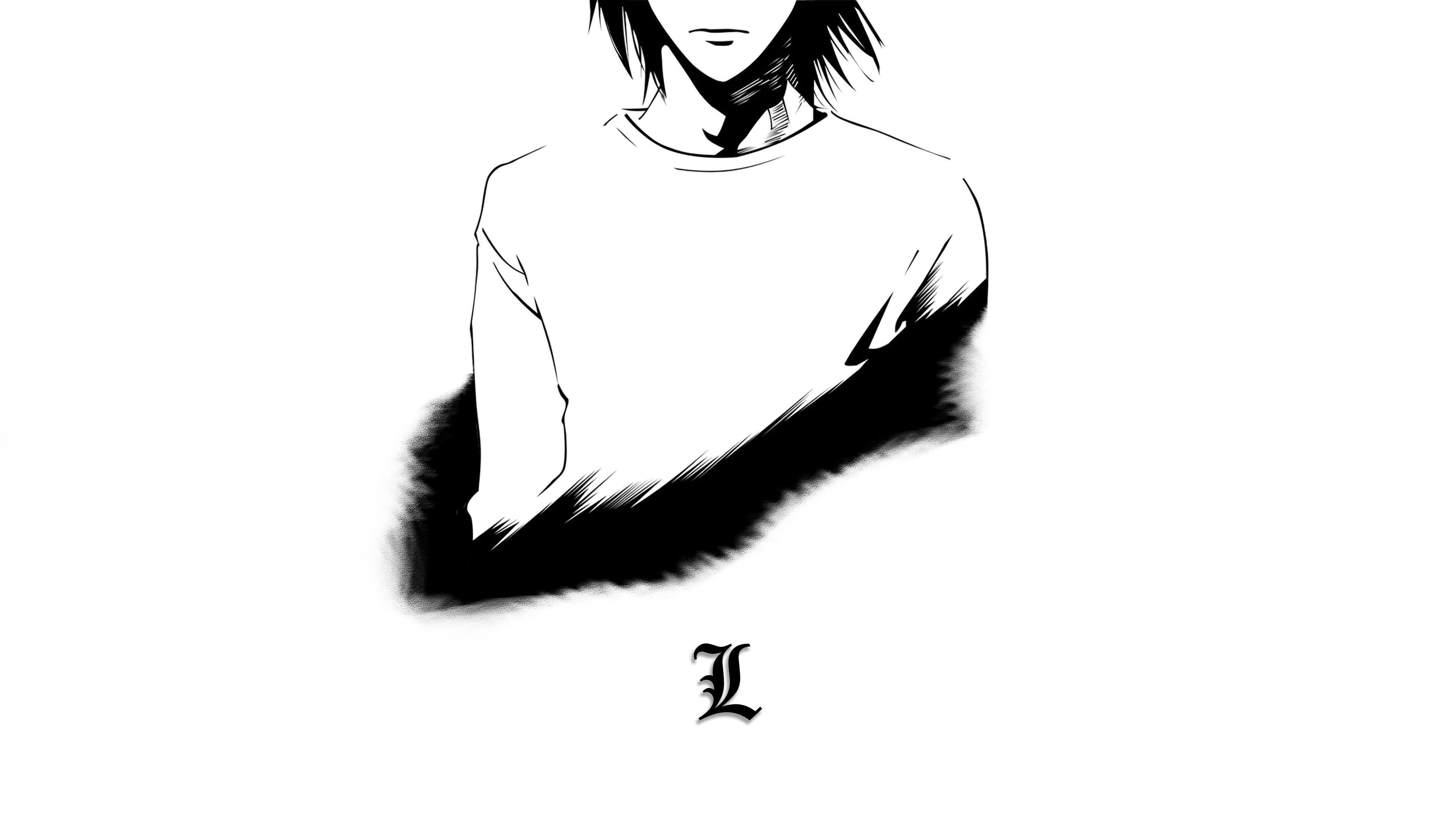 Anime 3840x2160 Lawliet L Death Note Yagami Light minimalism