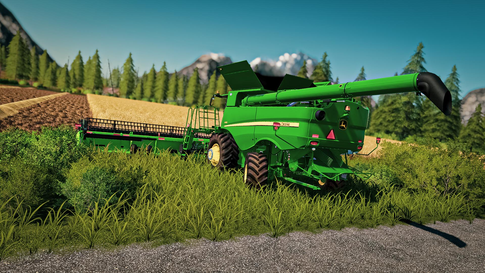 General 1920x1080 farming simulator farming simulator 2019 forest Harvest barley farm screen shot PC gaming vehicle