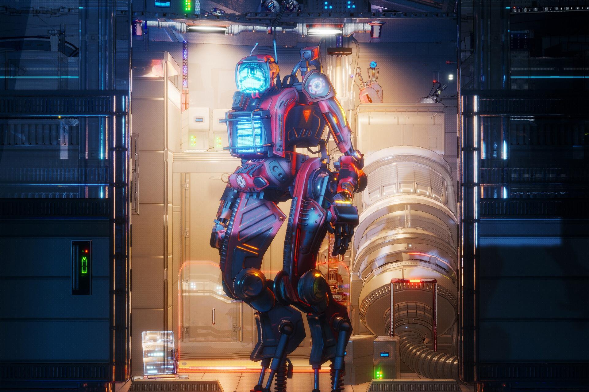 General 1920x1280 science fiction machine robot digital art Apex Legends Pathfinder