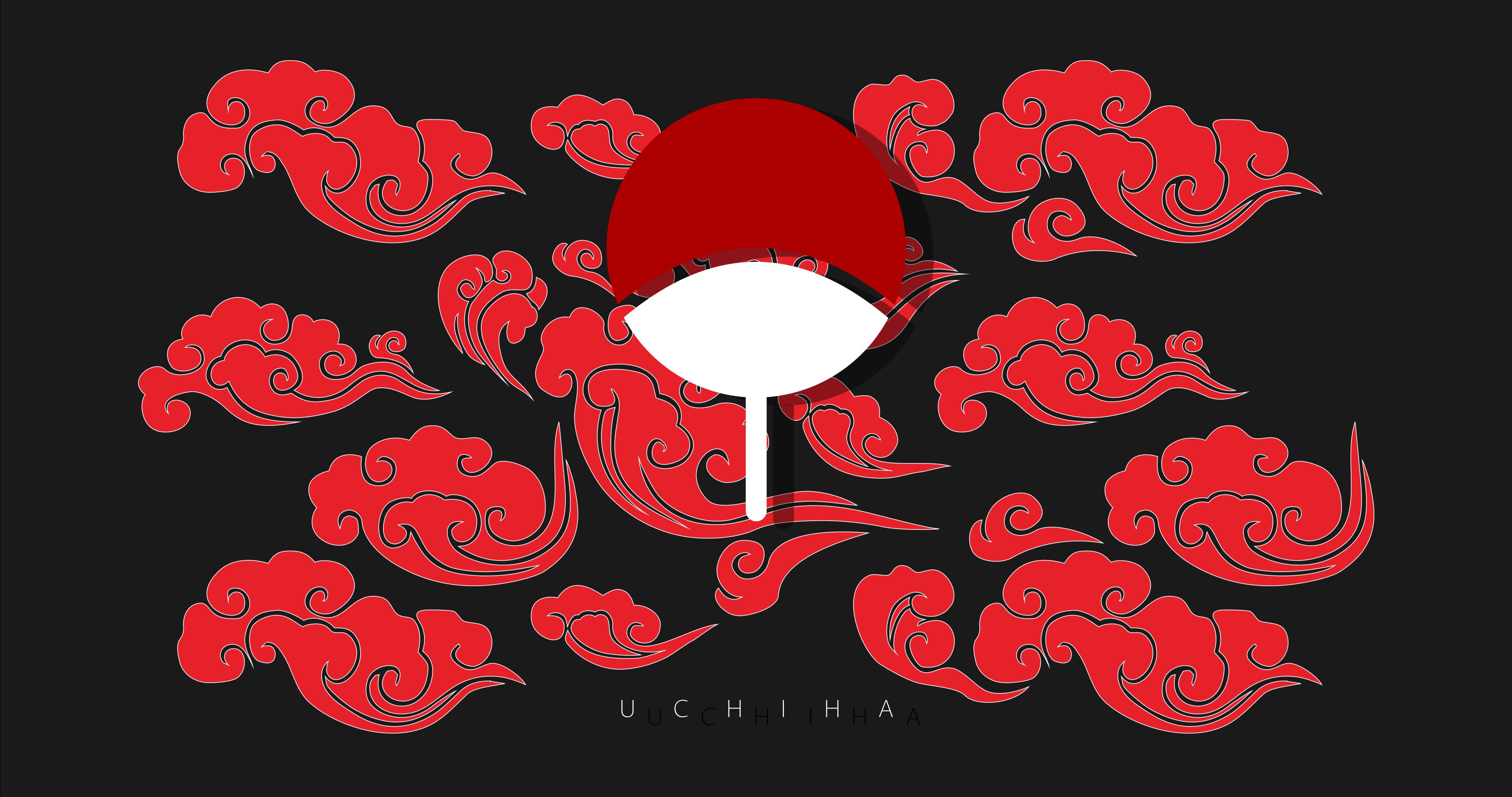 Anime 4097x2160 Uchiha clan Naruto (anime) crest clouds anime